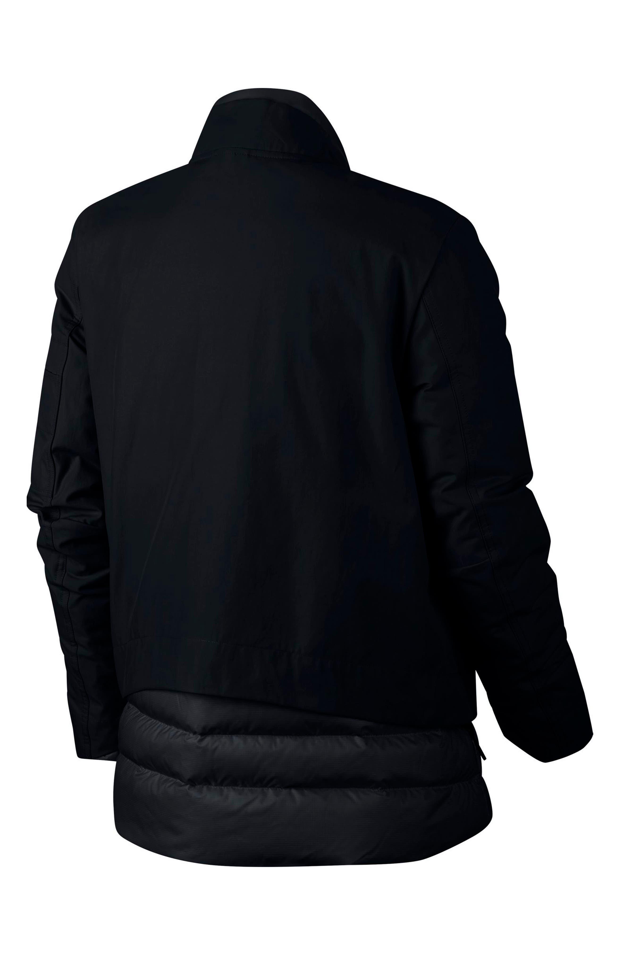 Sportswear AeroLoft 3-in-1 Down Jacket,                             Alternate thumbnail 12, color,                             Black/ Black/ Black