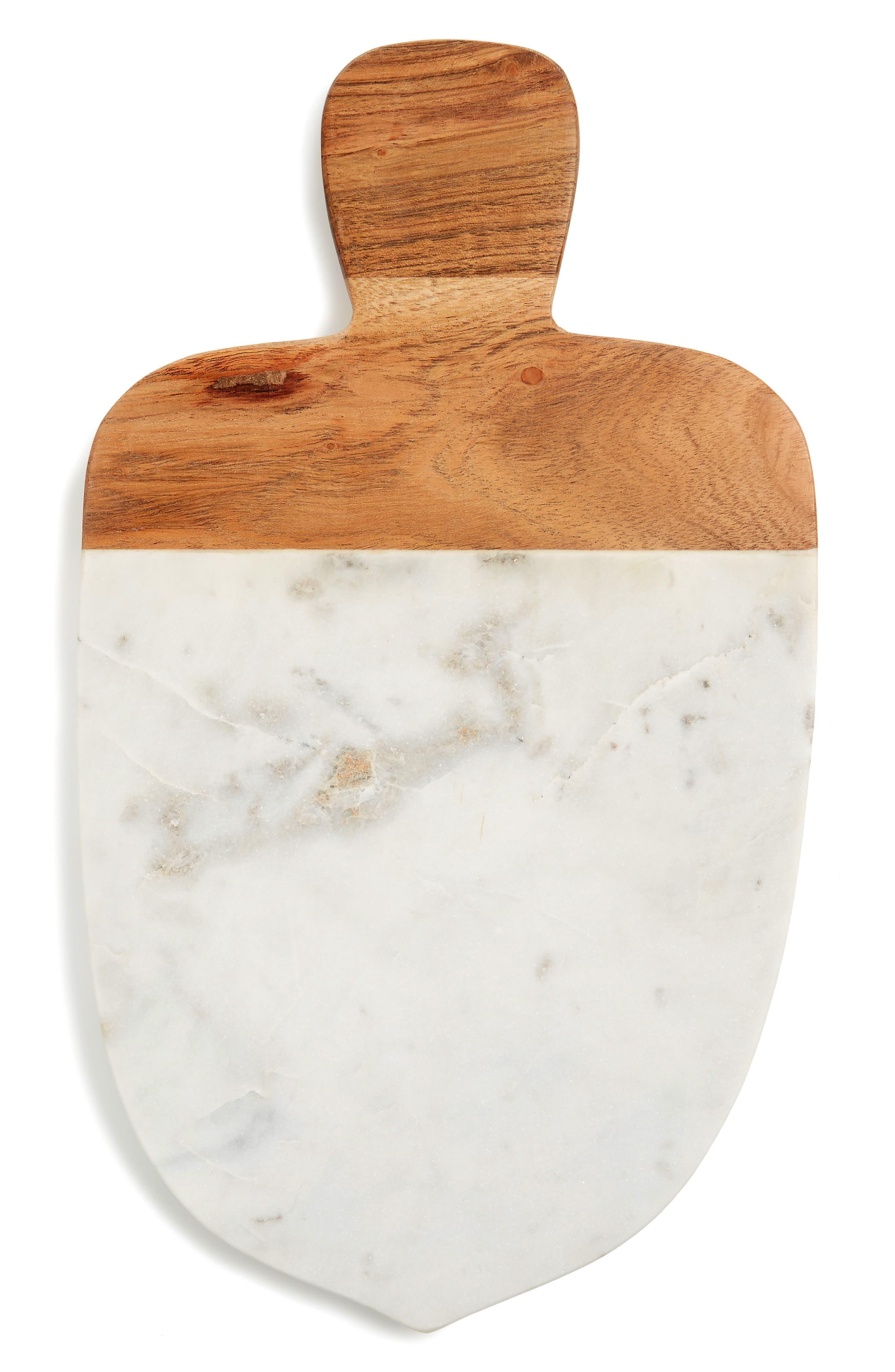 Marble Acorn Cutting Board,                             Main thumbnail 1, color,                             White Multi