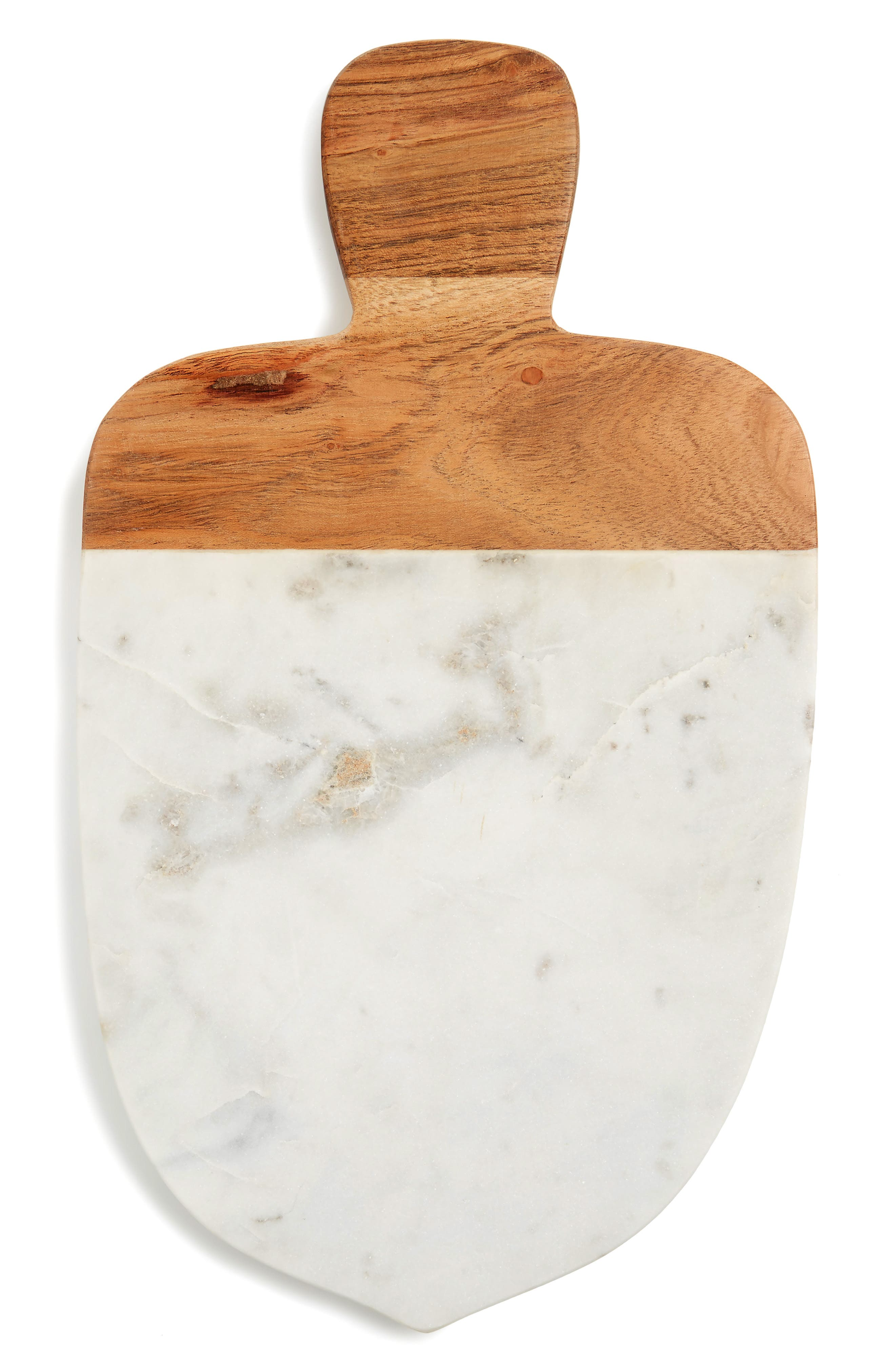 Marble Acorn Cutting Board,                         Main,                         color, White Multi