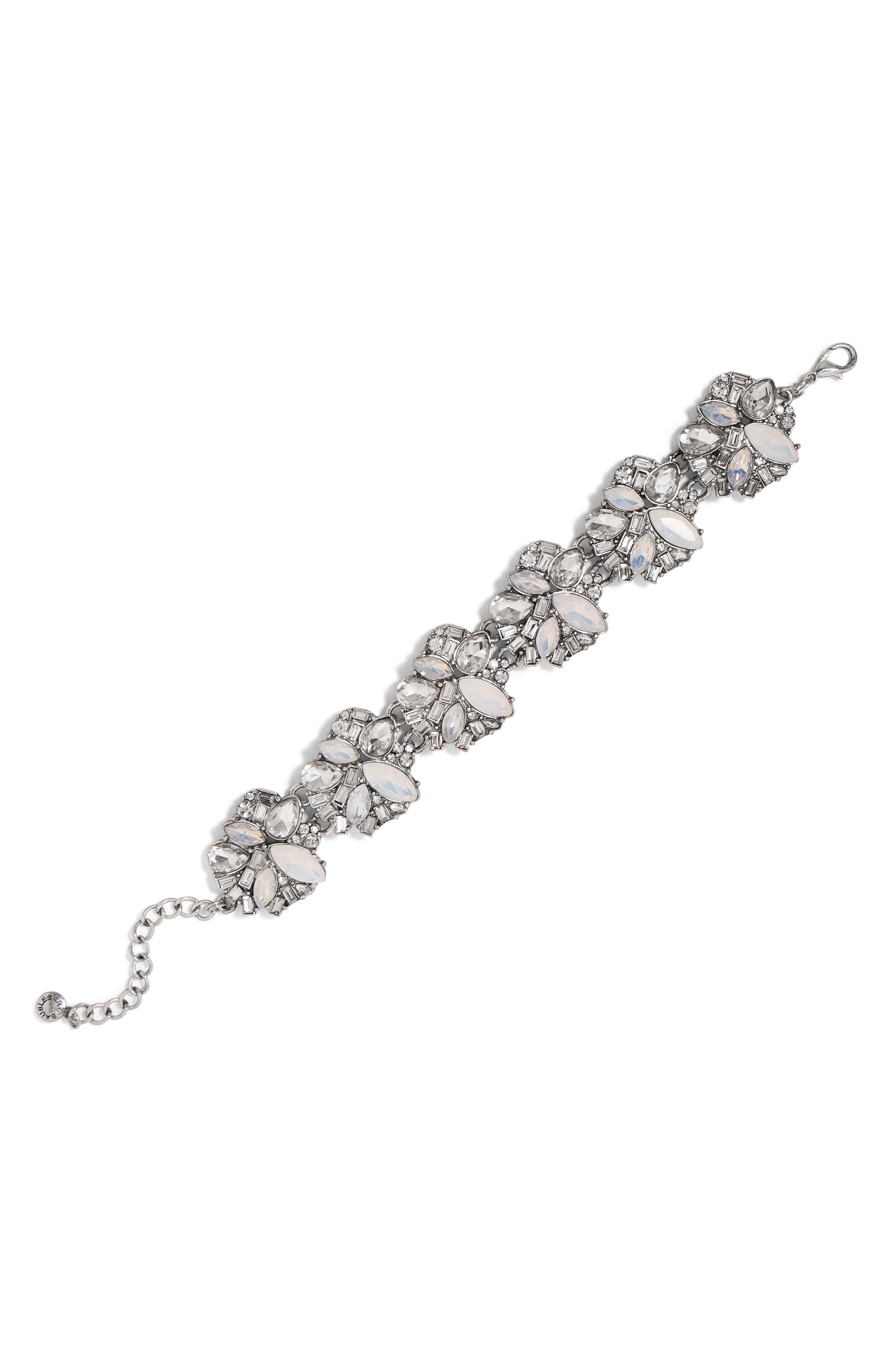 Beatriz Crystal Shatter Bracelet,                             Main thumbnail 1, color,                             Silver