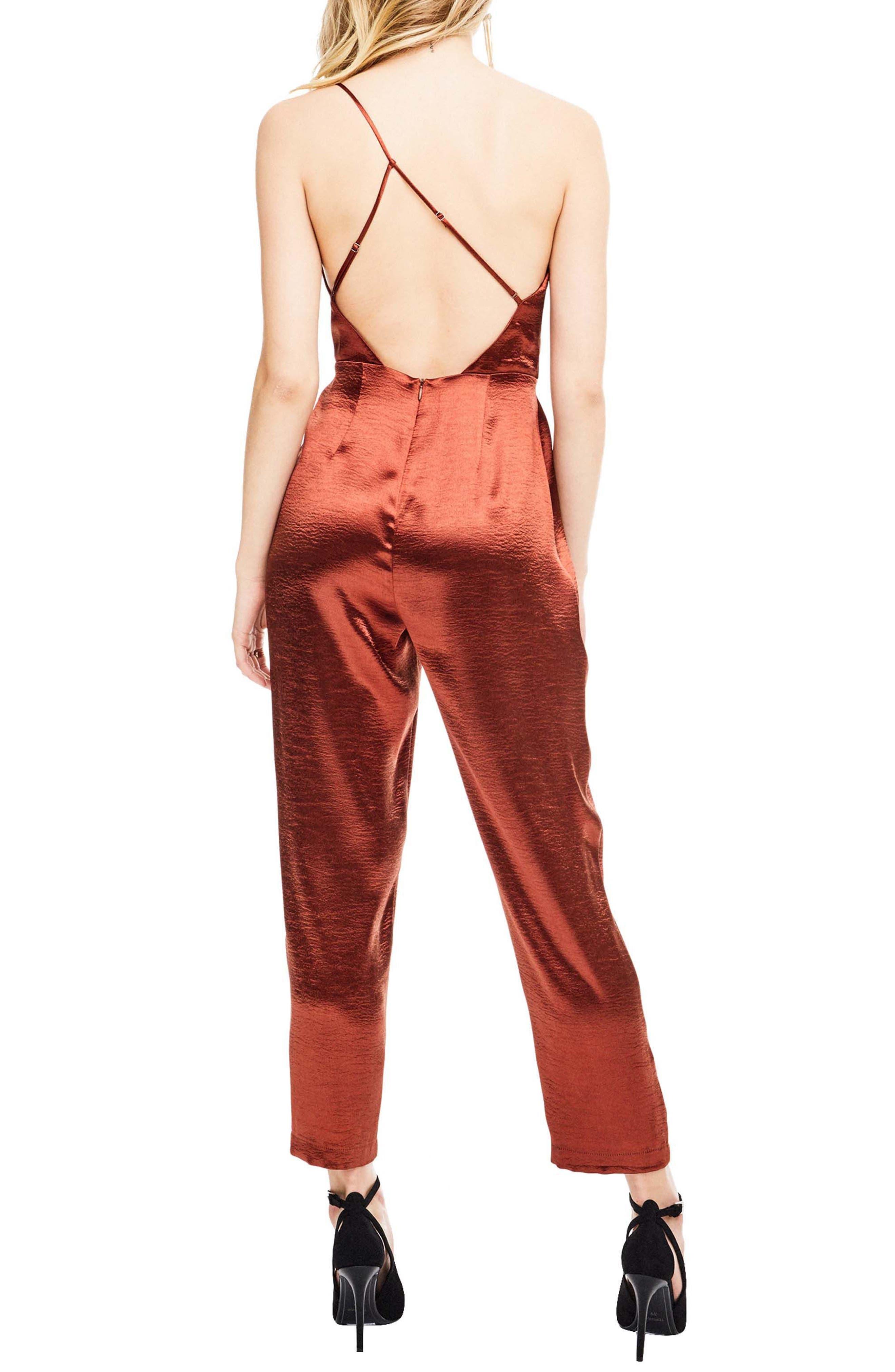 Alternate Image 2  - ASTR the Label Jana One Shoulder Jumpsuit