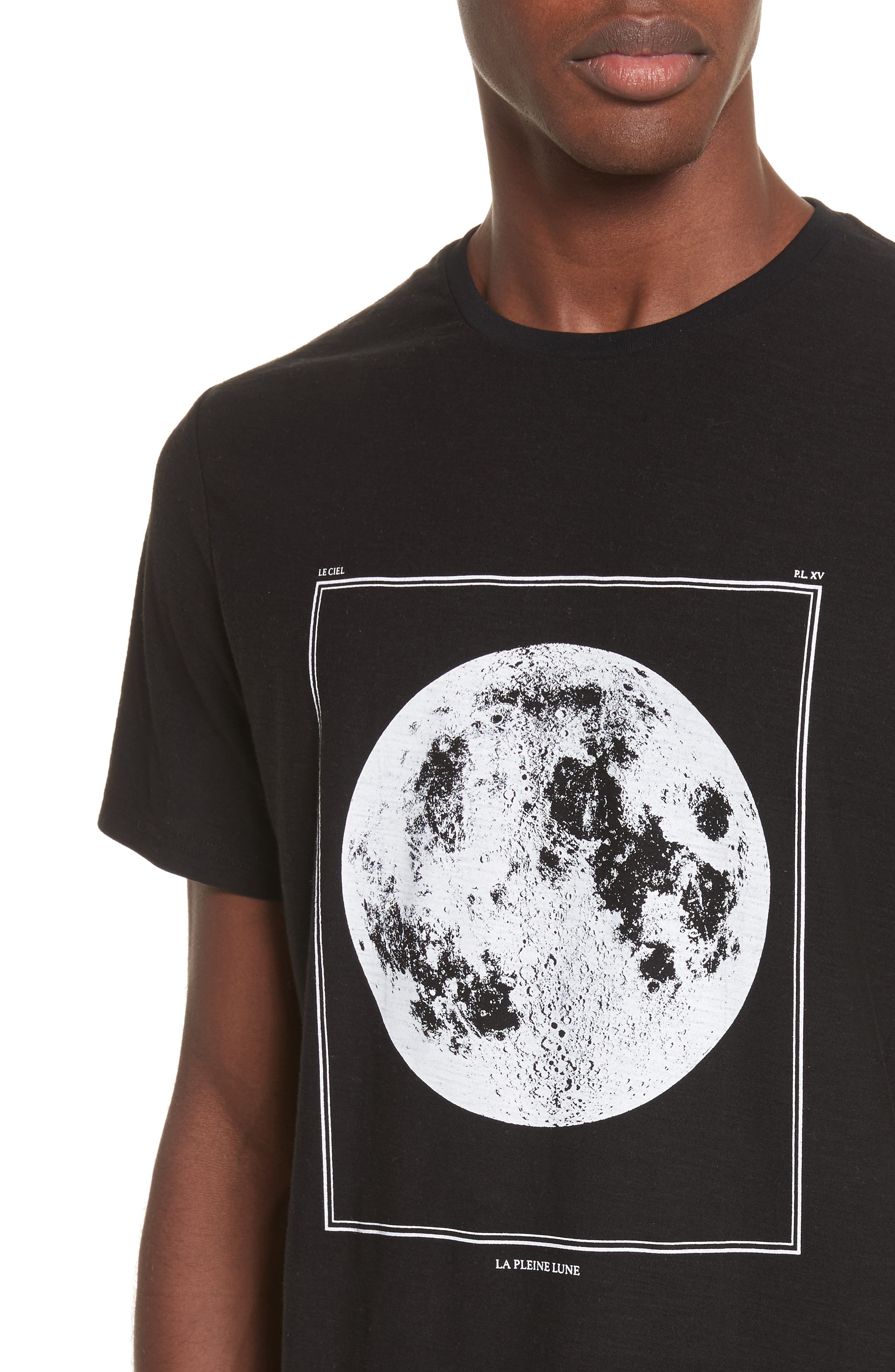 Full Moon Graphic T-Shirt,                             Alternate thumbnail 4, color,                             Black