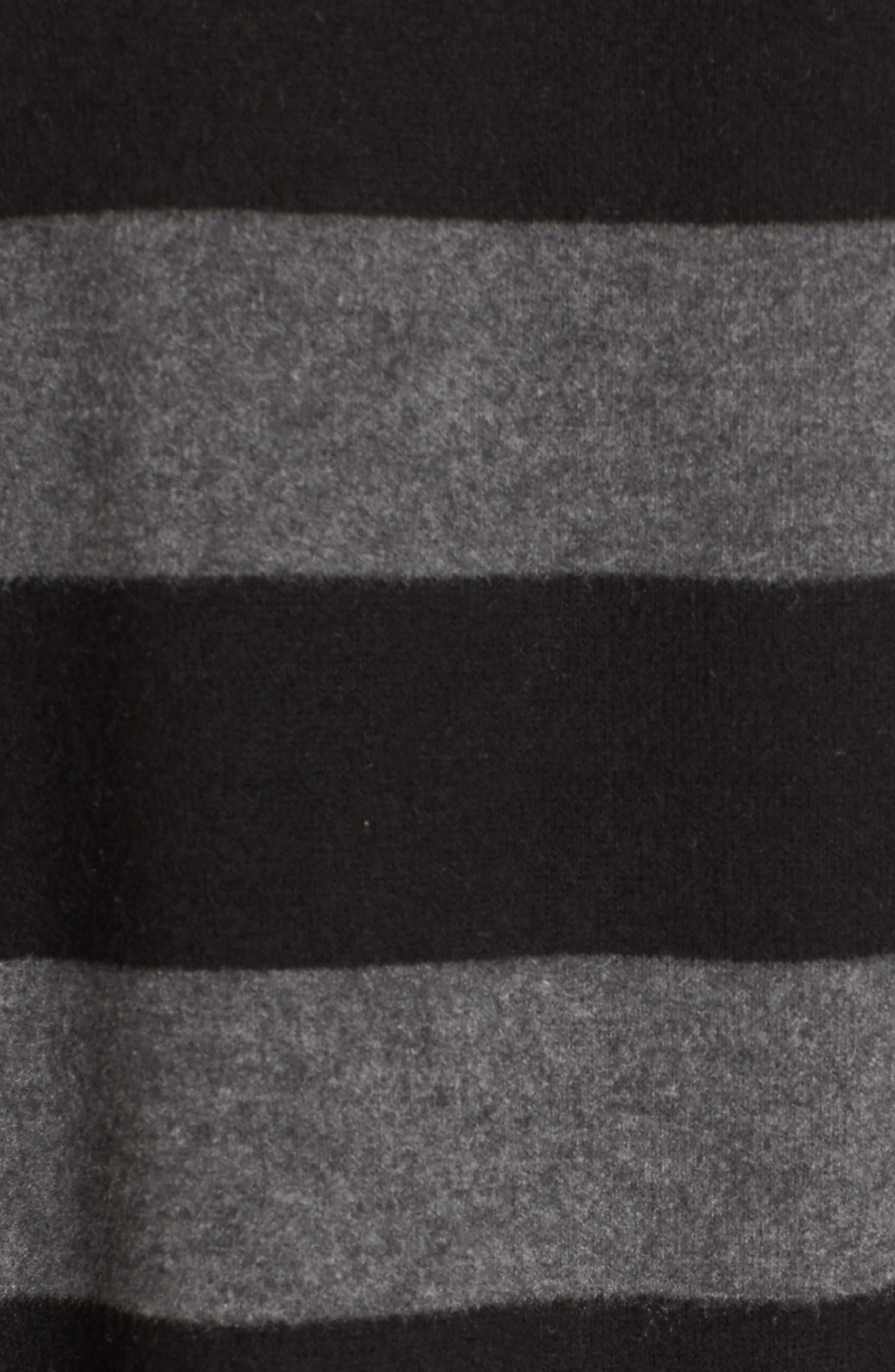 Stripe Cozy Tee,                             Alternate thumbnail 5, color,                             H. Charcoal/ Black