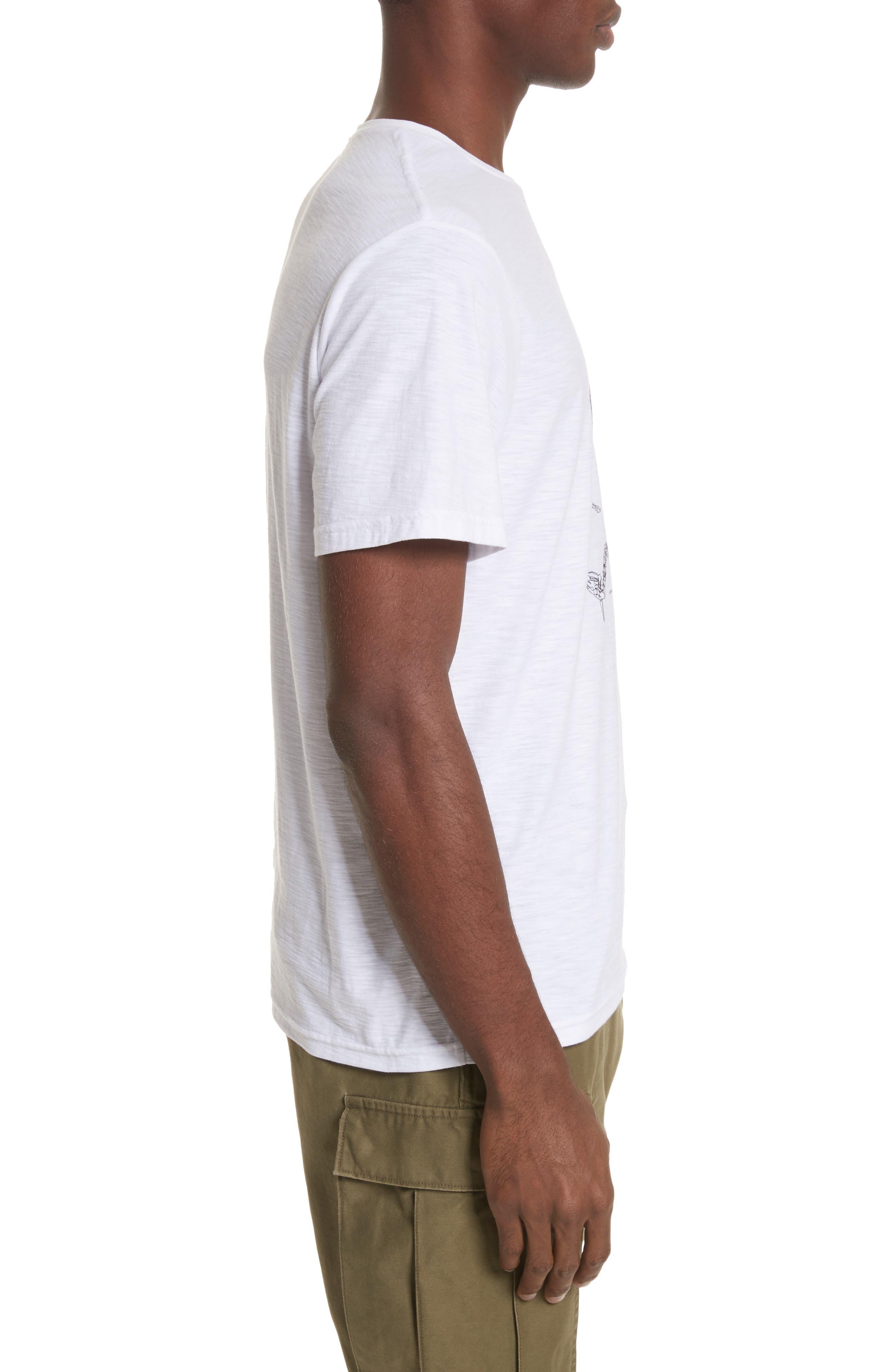 Animal Skeleton Graphic T-Shirt,                             Alternate thumbnail 3, color,                             White