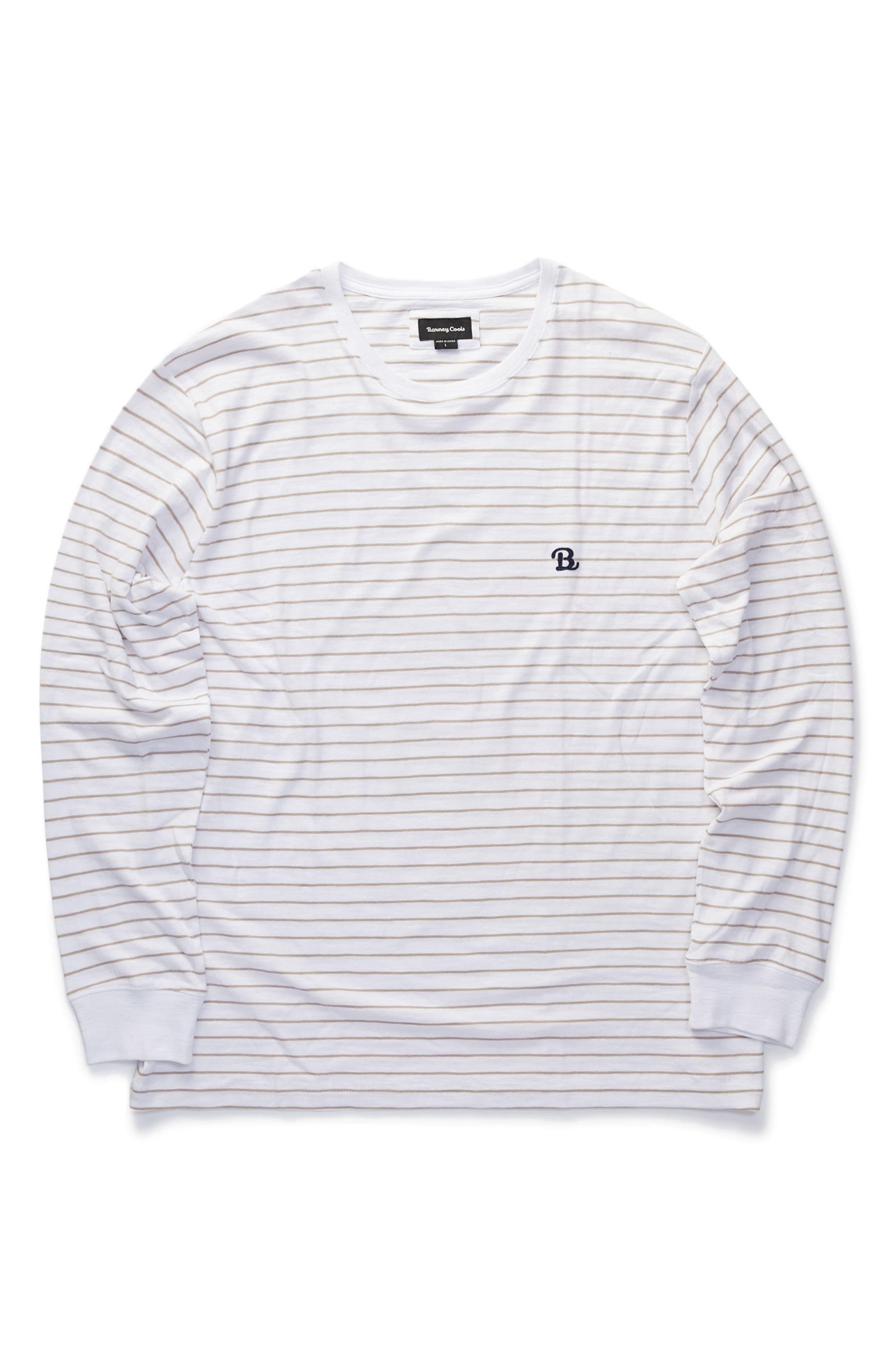 B. Schooled T-Shirt,                             Alternate thumbnail 5, color,                             Beige Stripe