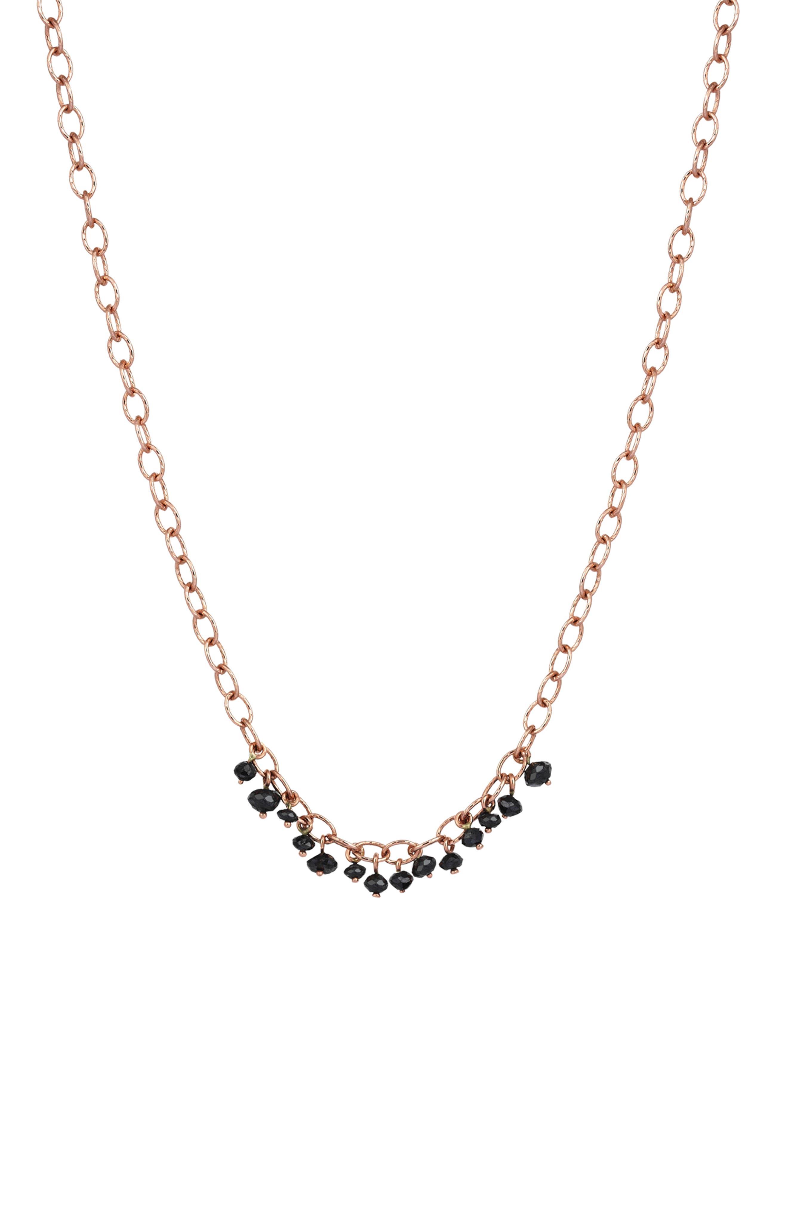 Alternate Image 1 Selected - Kismet by Milka Black Diamond Pendant Necklace
