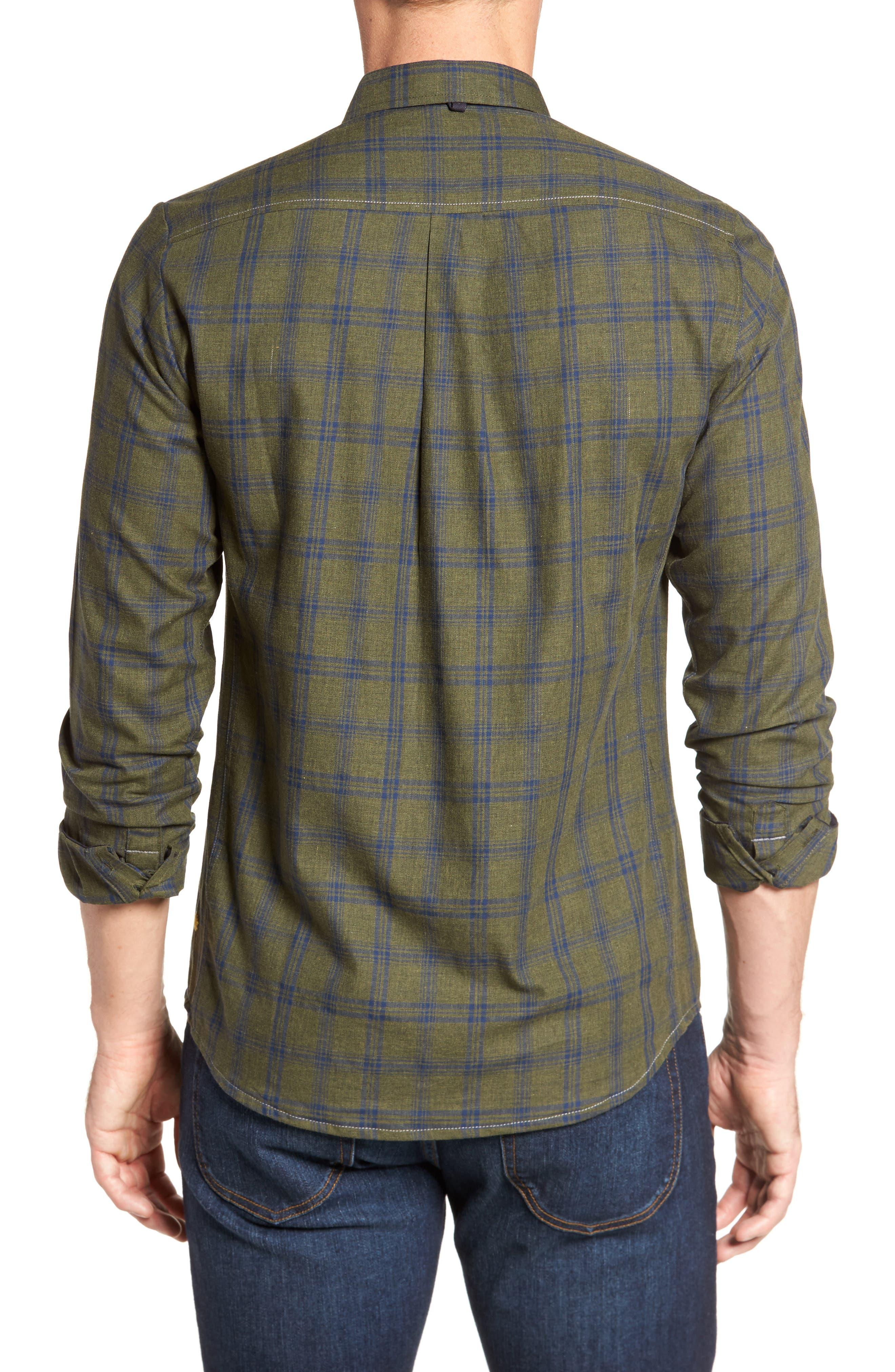 Alternate Image 2  - Descendant of Thieves Vintage Army Plaid Sport Shirt