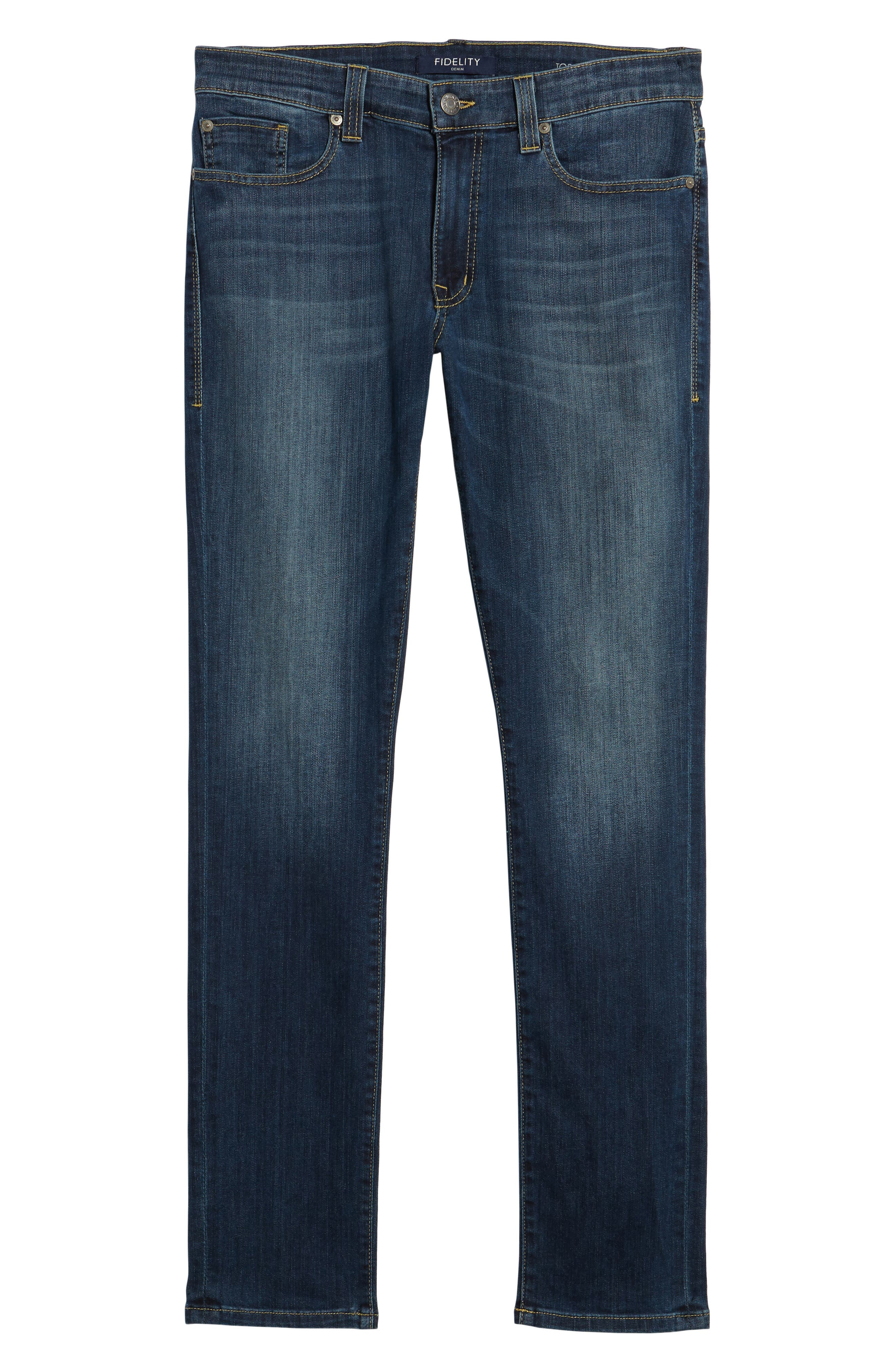 Alternate Image 6  - Fidelity Denim Torino Slim Fit Jeans (Providence)