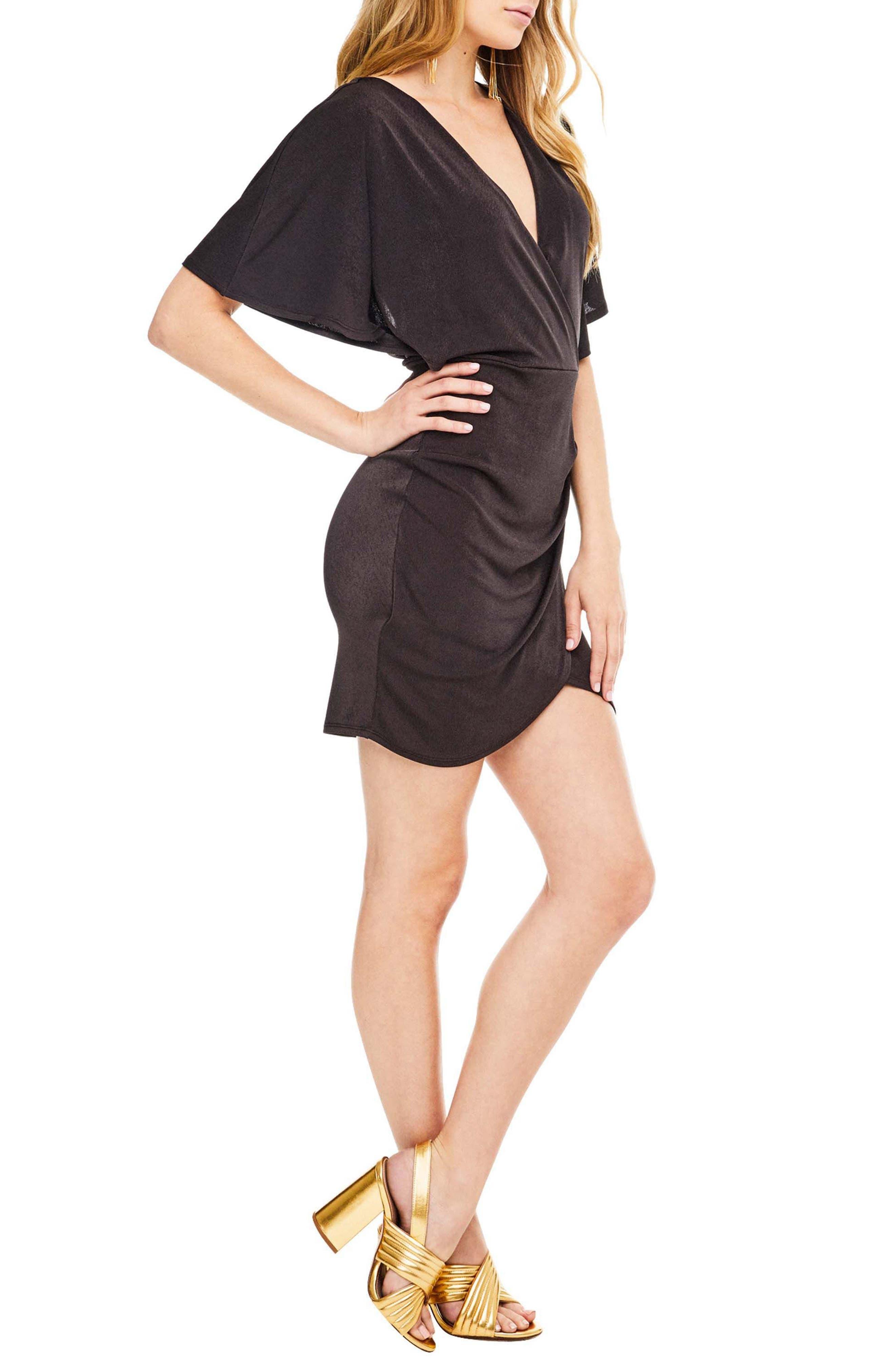 Haley Dolman Sleeve Dress,                             Alternate thumbnail 3, color,                             Coal