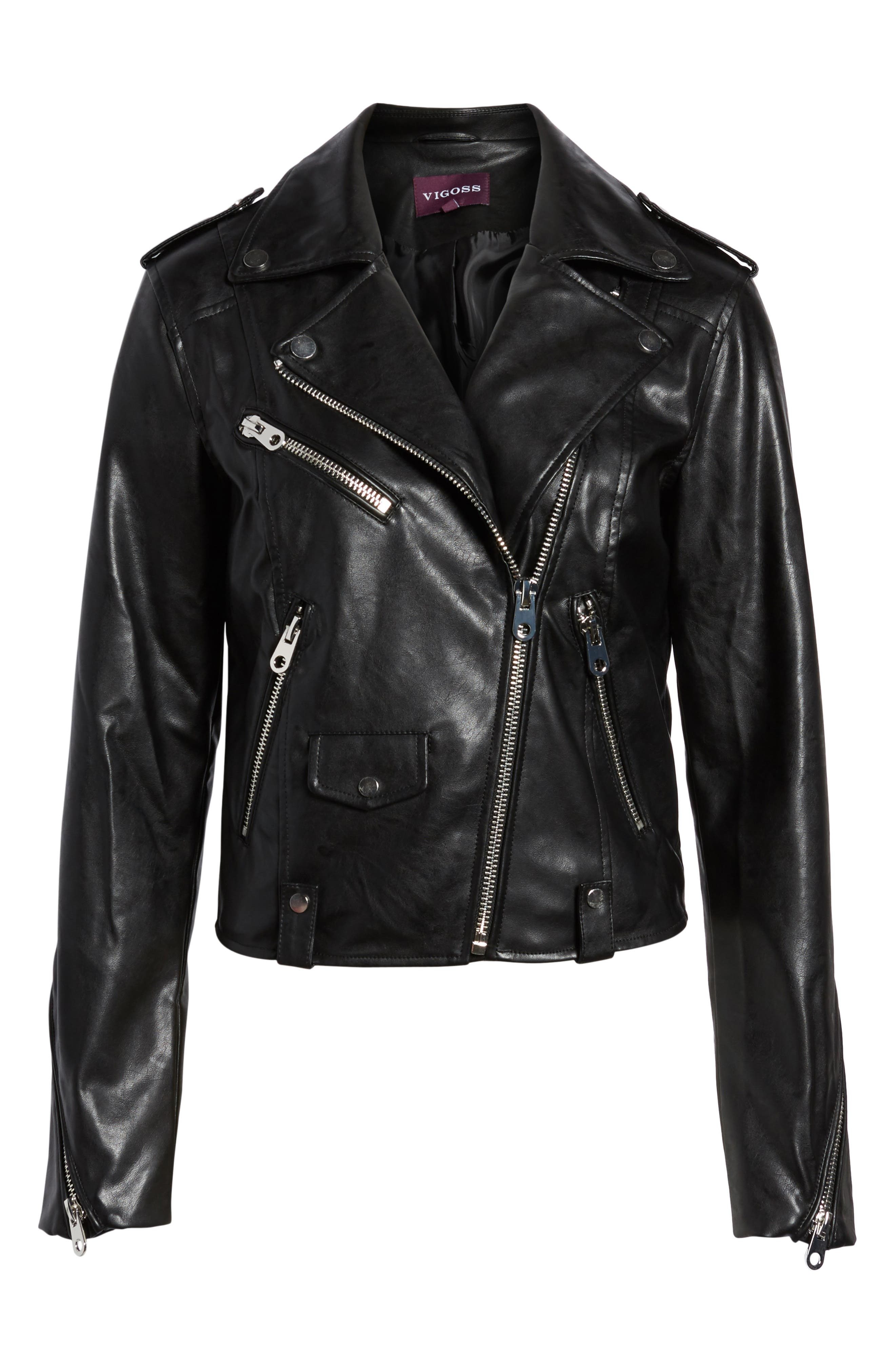 Alternate Image 6  - Vigoss Faux Leather Moto Jacket