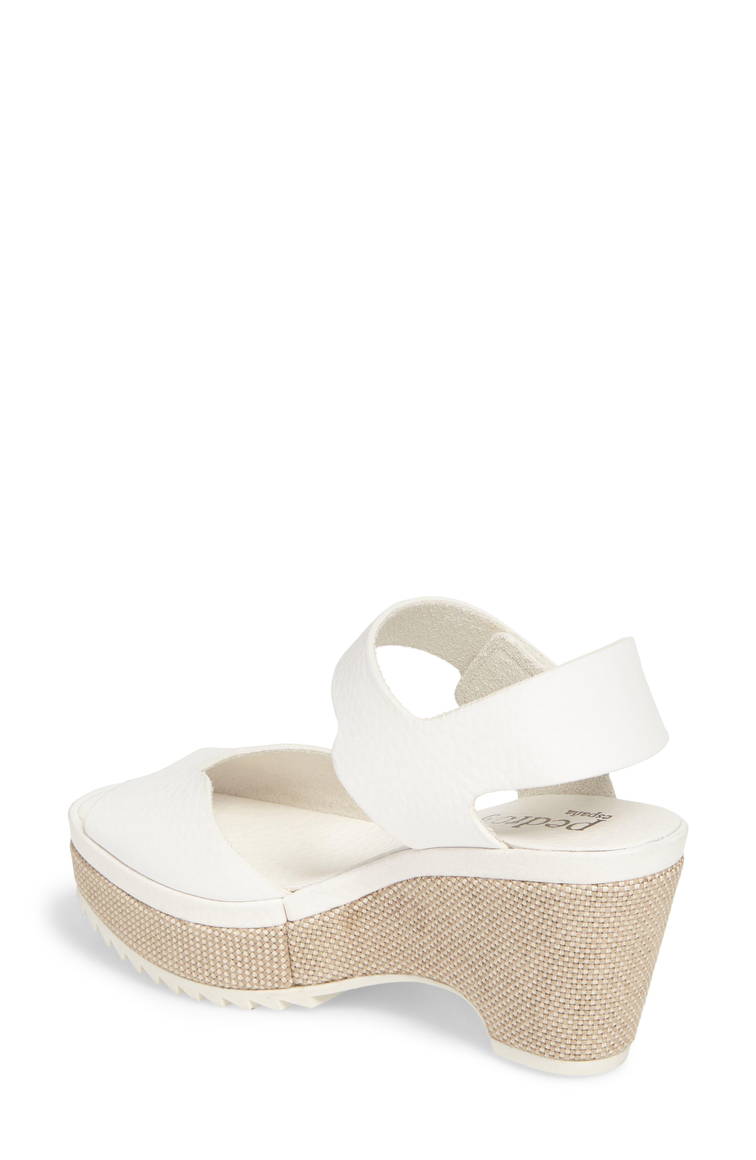Fah Wedge Sandal,                             Alternate thumbnail 2, color,                             White Cervo