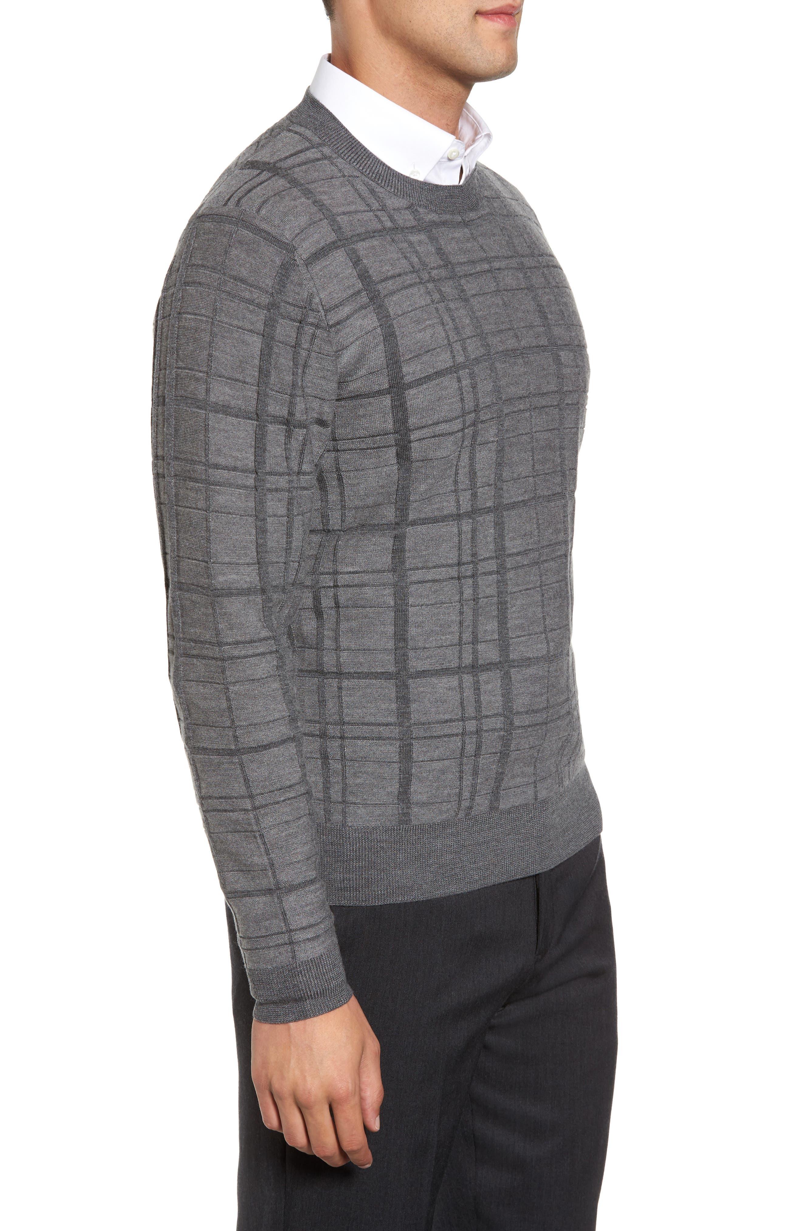 Alternate Image 3  - Bobby Jones Tonal Grid Wool Sweater