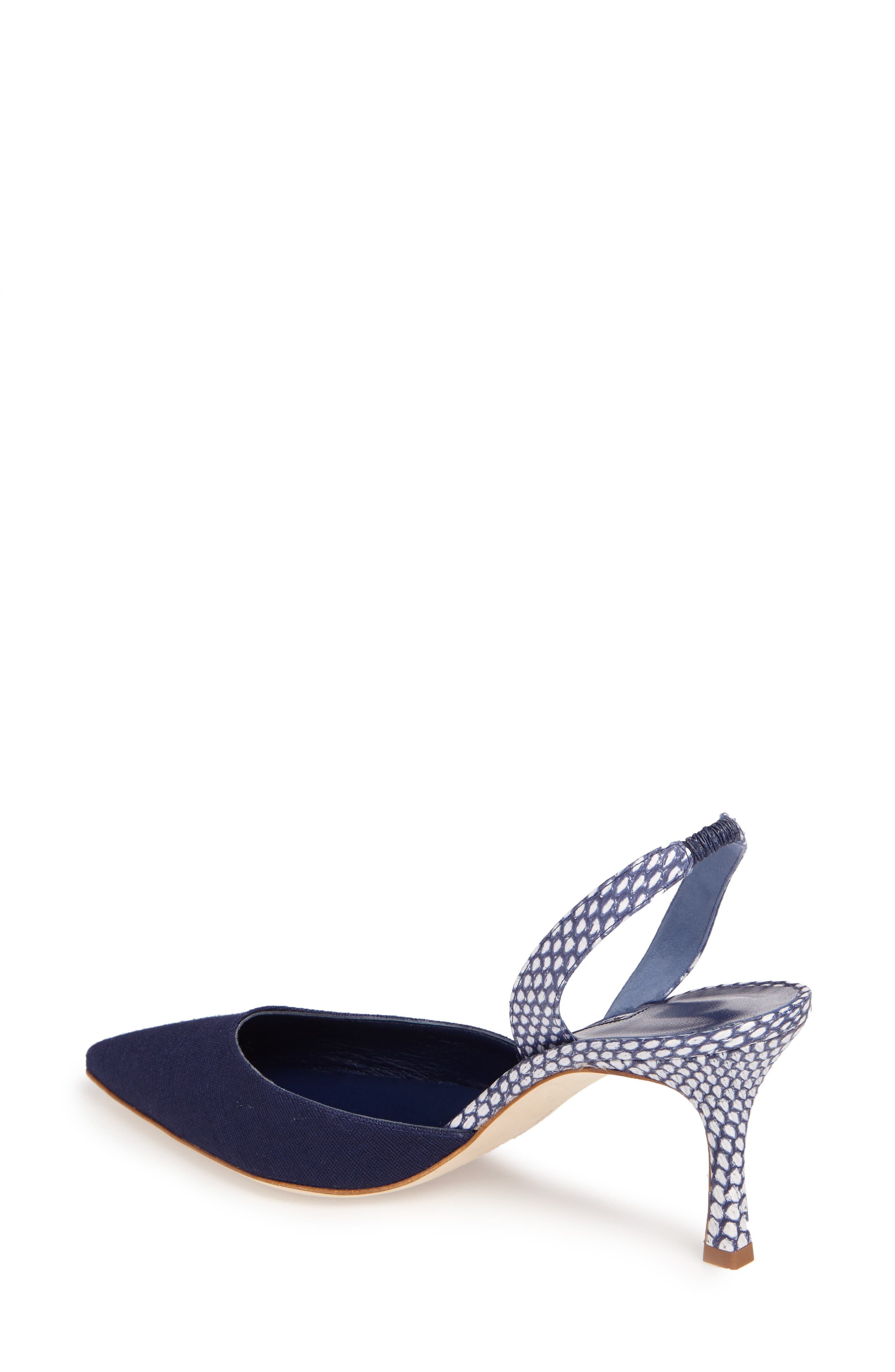 Carolyne Slingback Pump,                             Alternate thumbnail 2, color,                             Navy