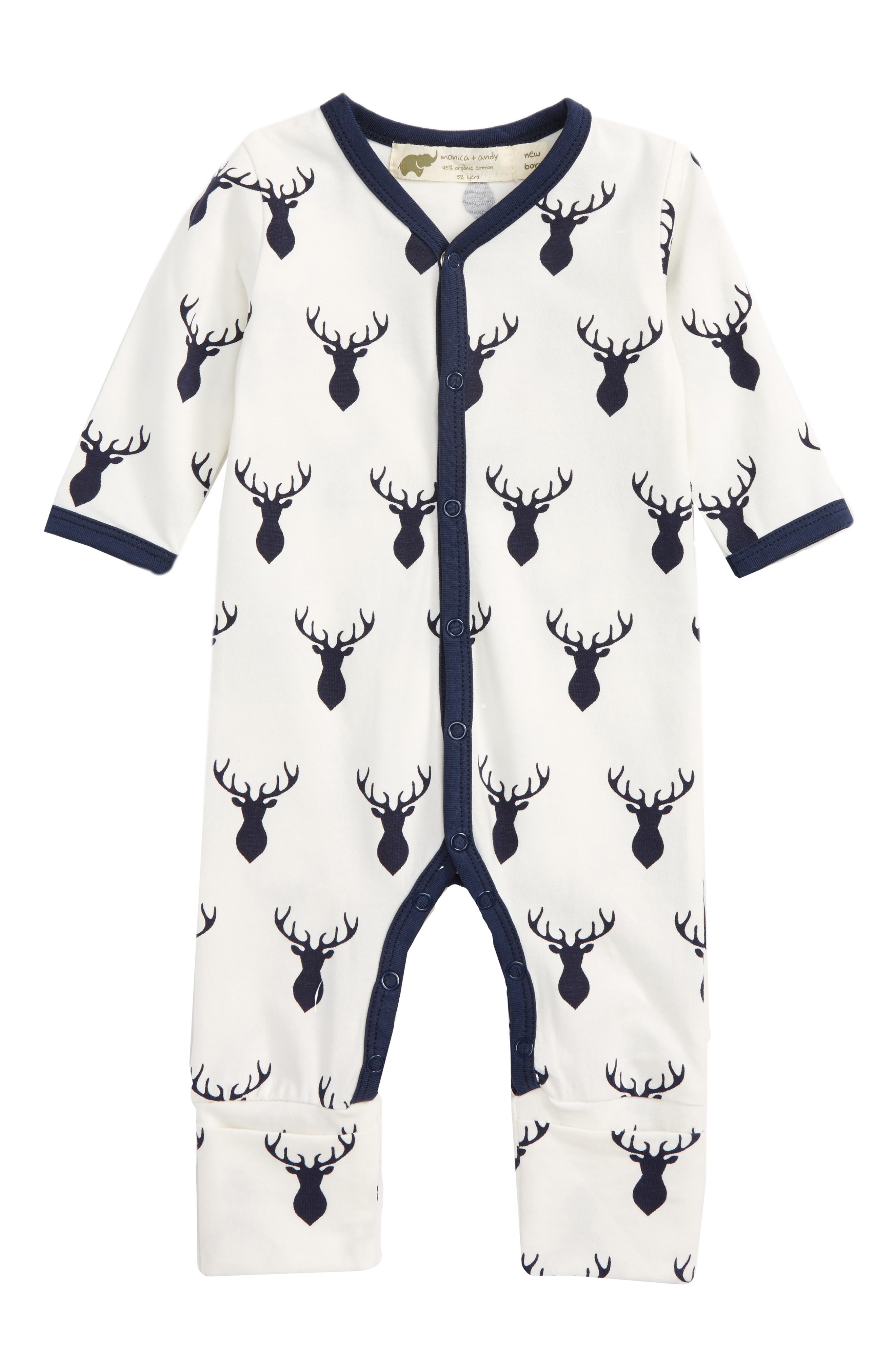 On the Go One-Piece Romper,                             Main thumbnail 1, color,                             Deer