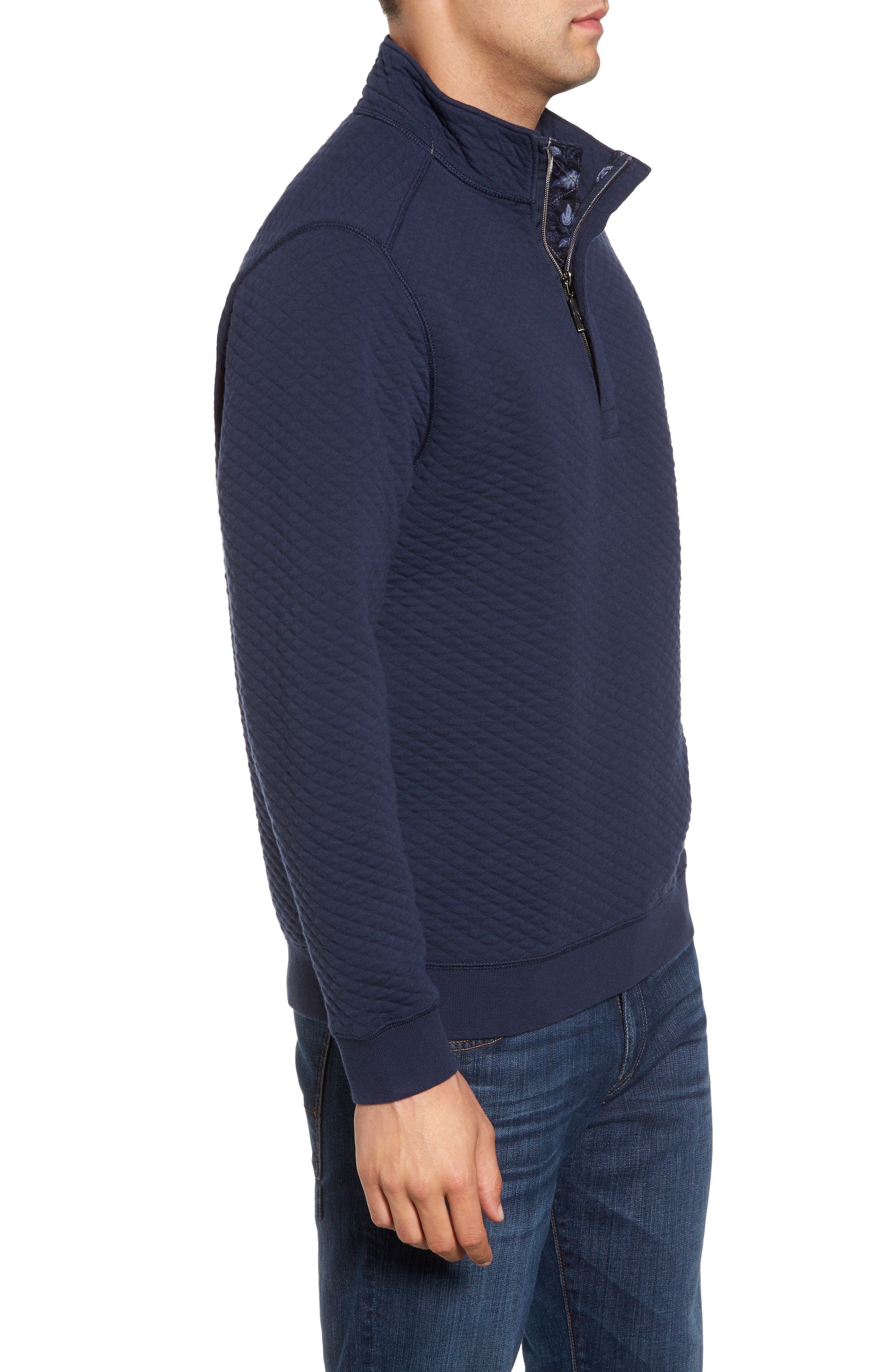 Alternate Image 3  - Tommy Bahama Quiltessential Standard Fit Quarter Zip Pullover