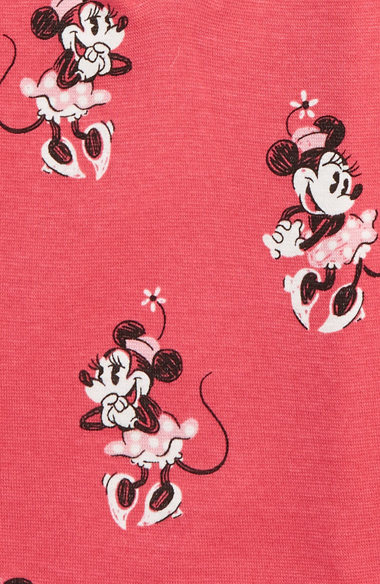 Disney – Minnie Mouse Fitted Two-Piece Pajamas,                             Alternate thumbnail 2, color,                             Pink Blush Minnie