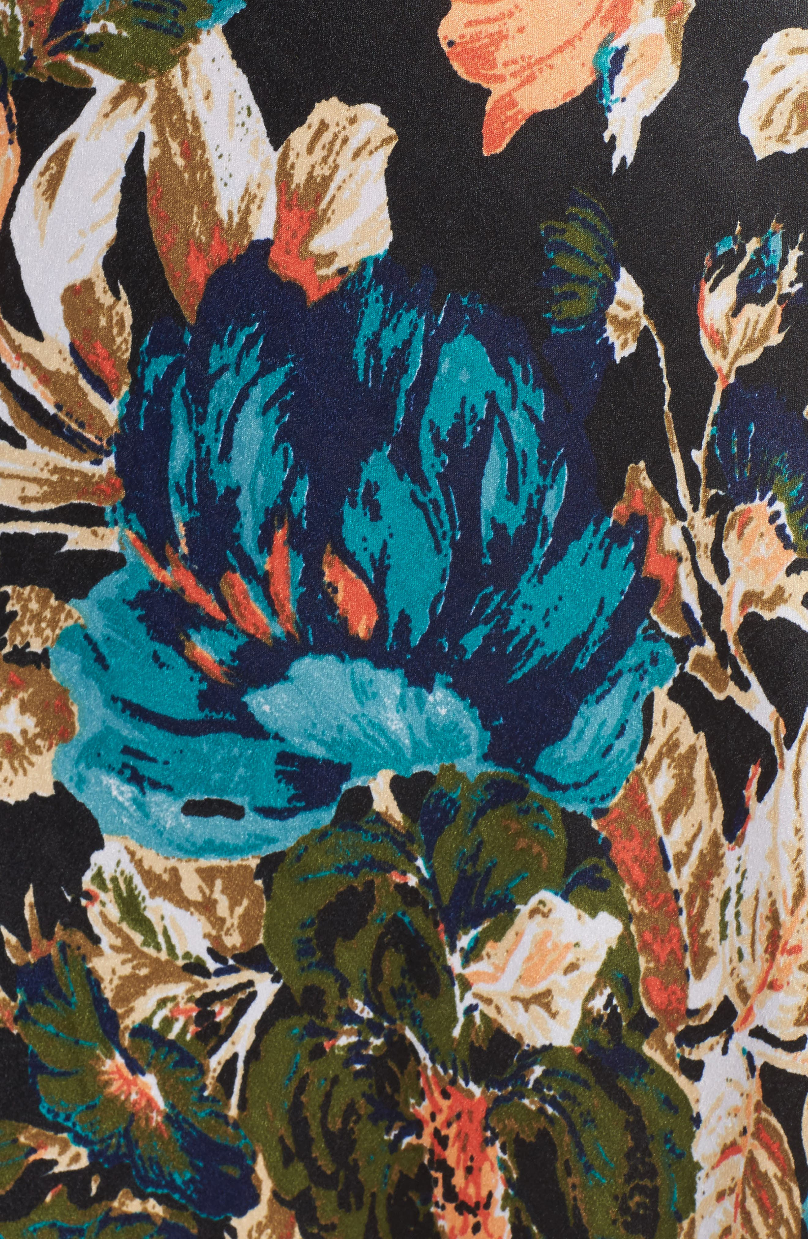 Alternate Image 5  - Band of Gypsies Peony Floral Midi Dress