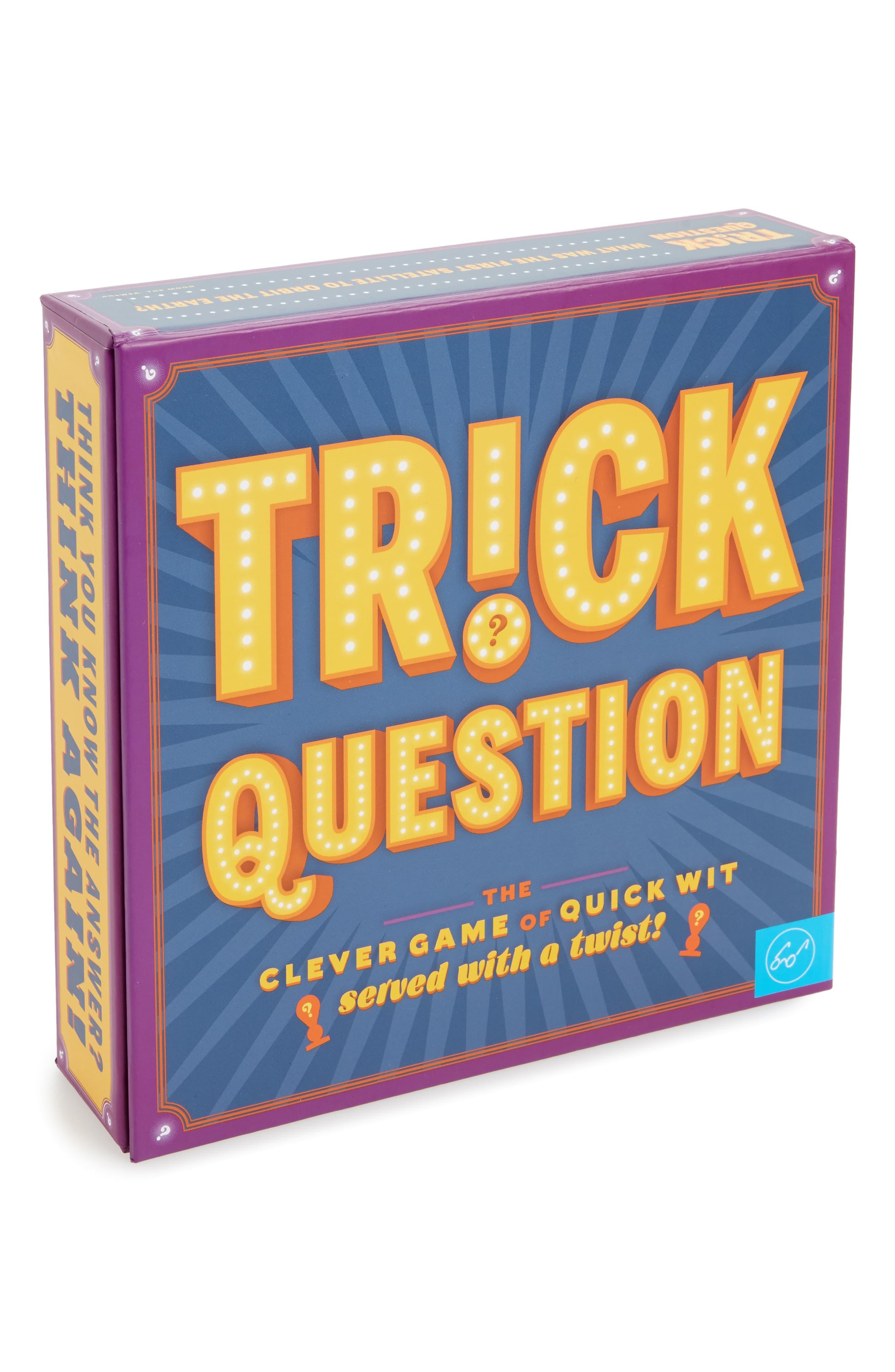 Trick Question Card Game,                             Main thumbnail 1, color,                             Blue