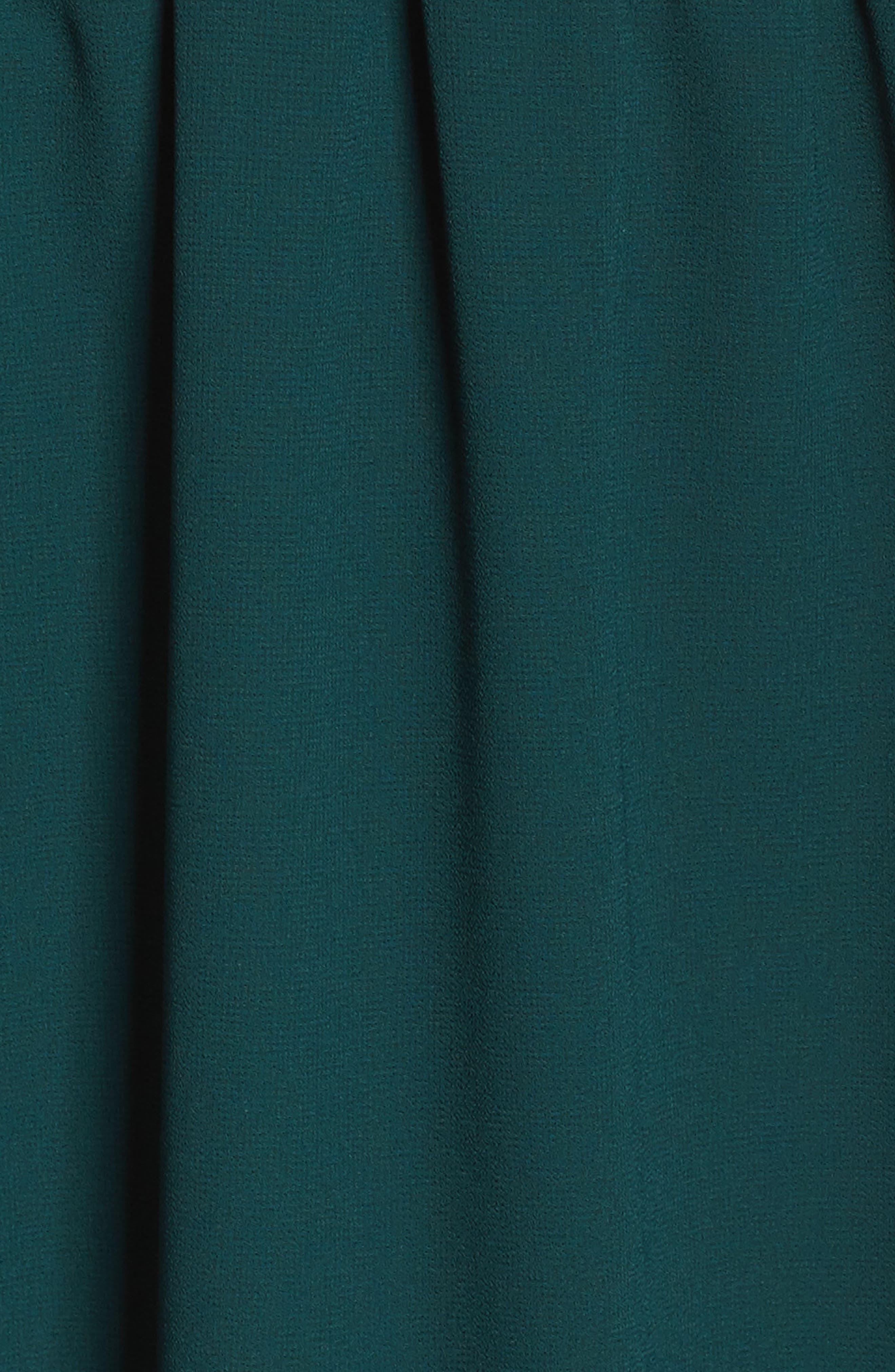 Julia Chiffon Skater Dress,                             Alternate thumbnail 5, color,                             Hunter