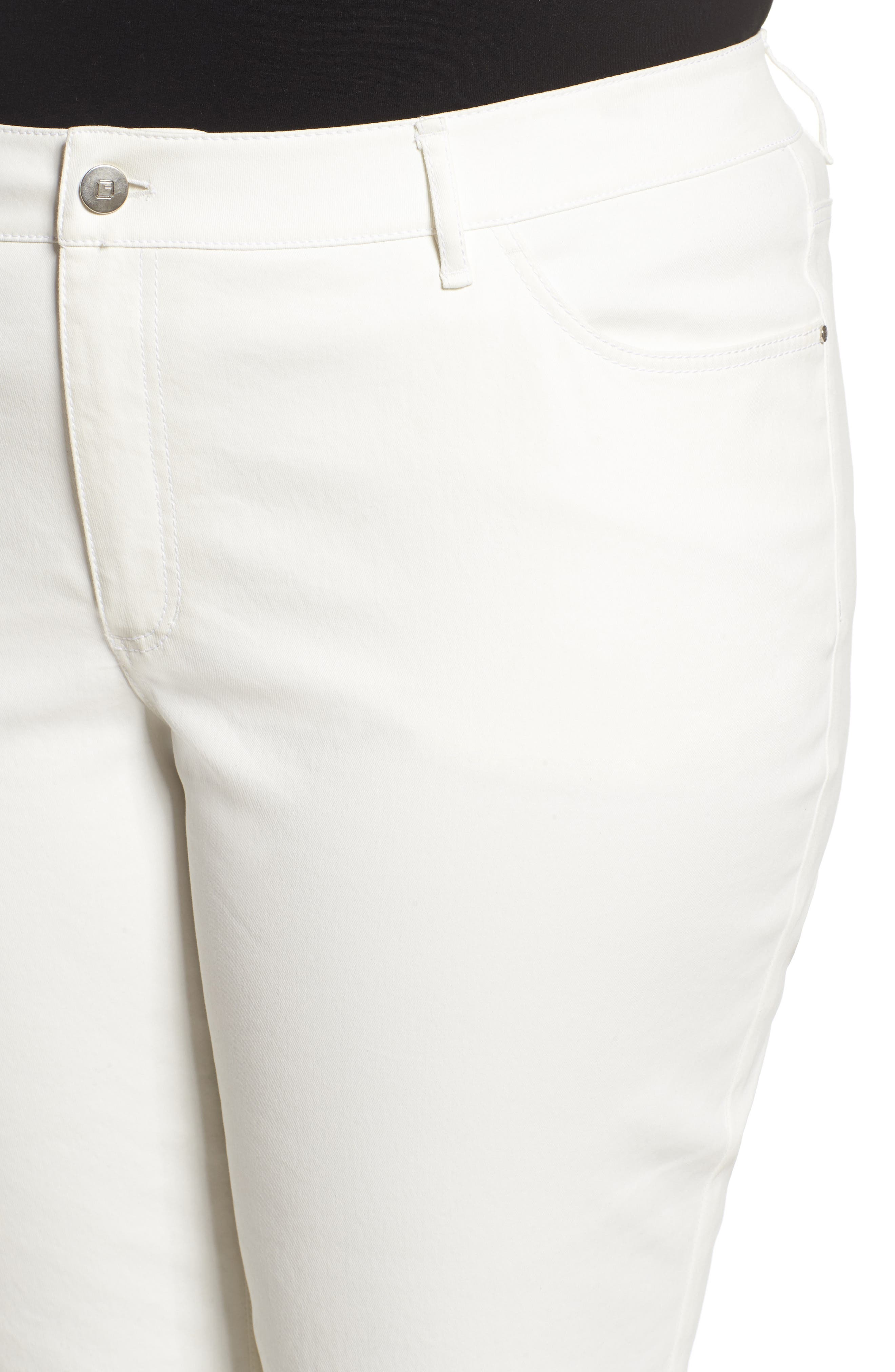 Alternate Image 4  - Lafayette 148 New York Curvy Fit Slim Leg Jeans (Plus Size)