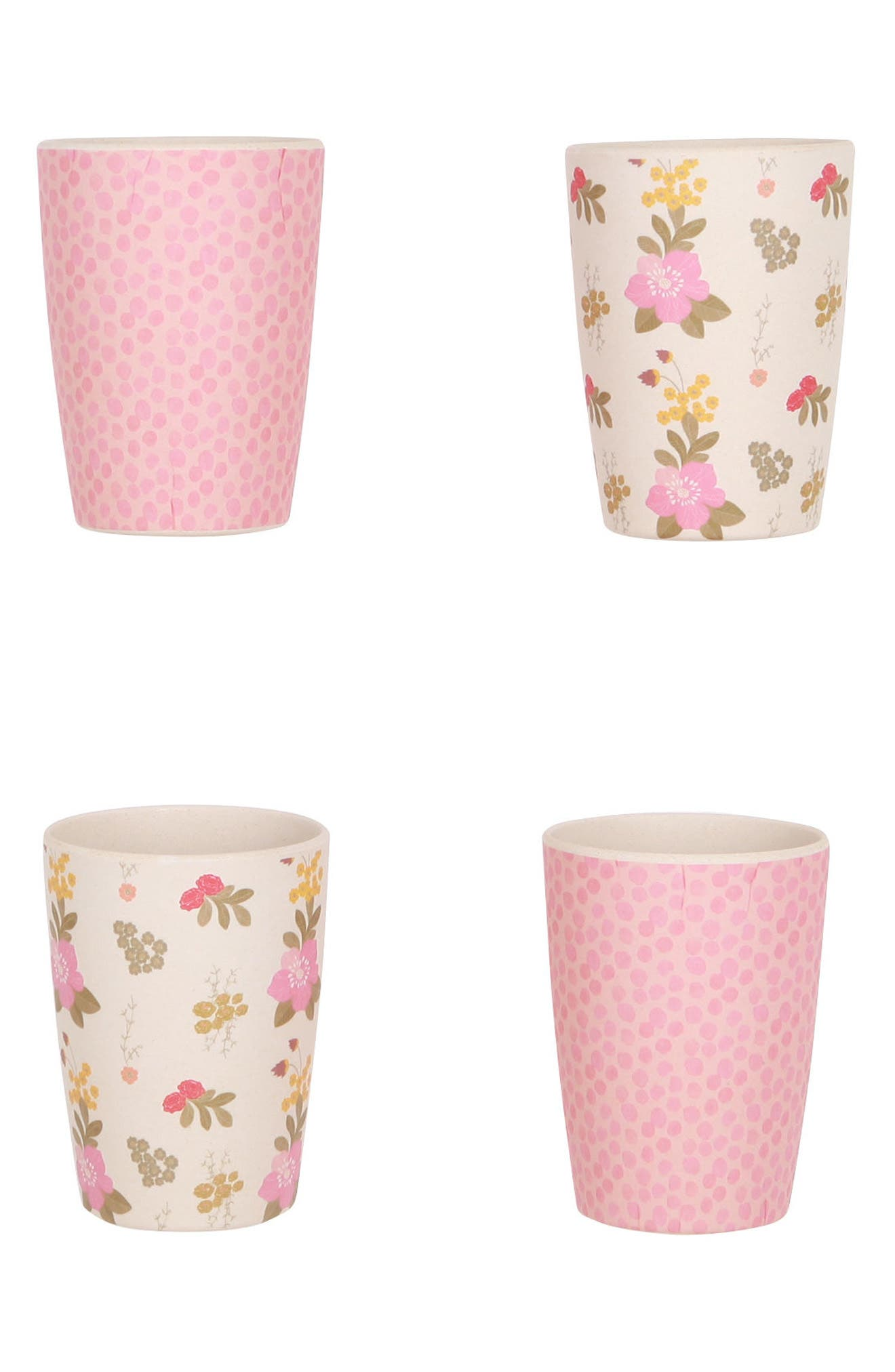 4-Pack Tumblers,                             Main thumbnail 1, color,                             Floral And Pink