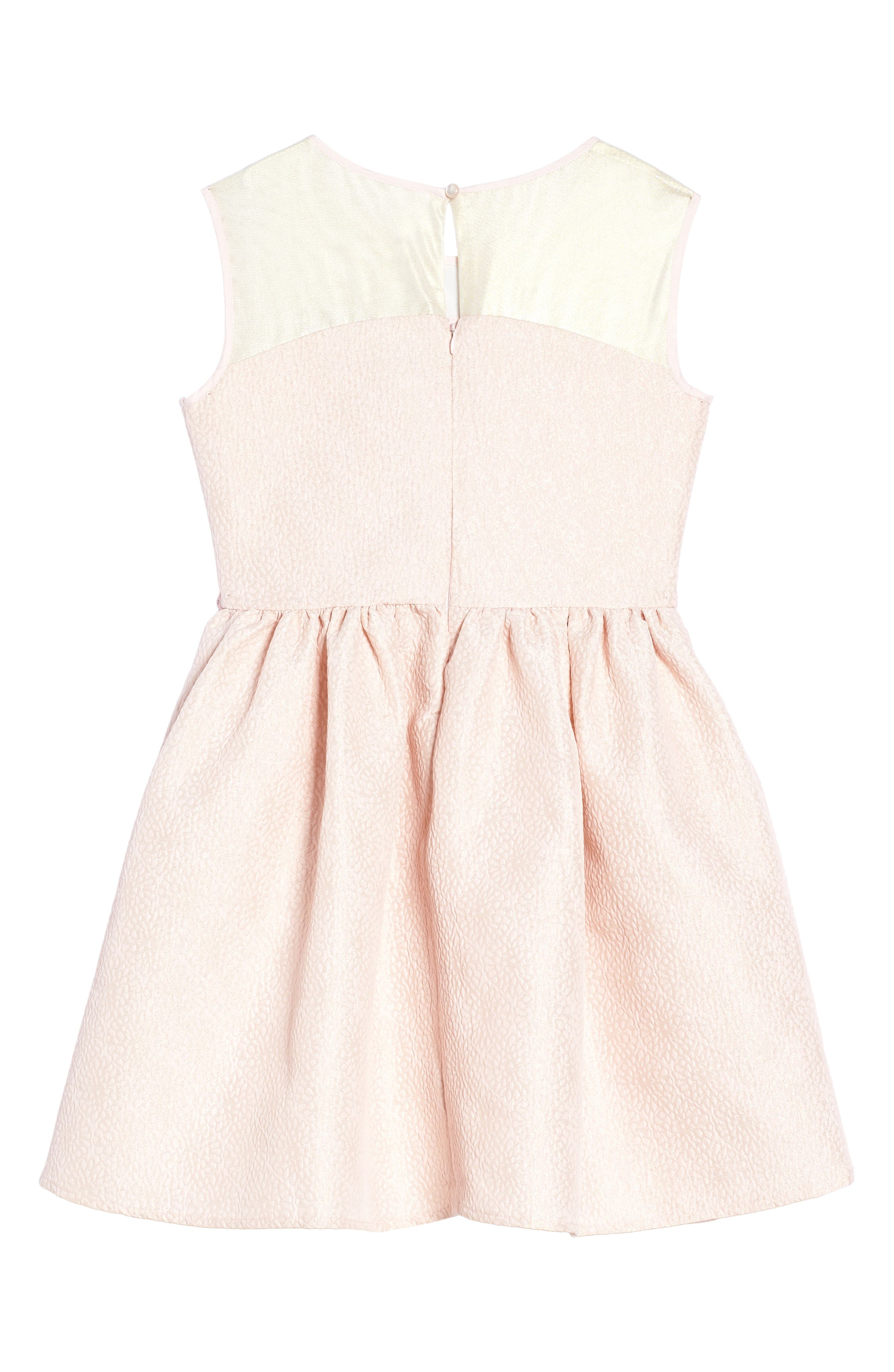 Fit & Flare Dress,                             Alternate thumbnail 2, color,                             Pink