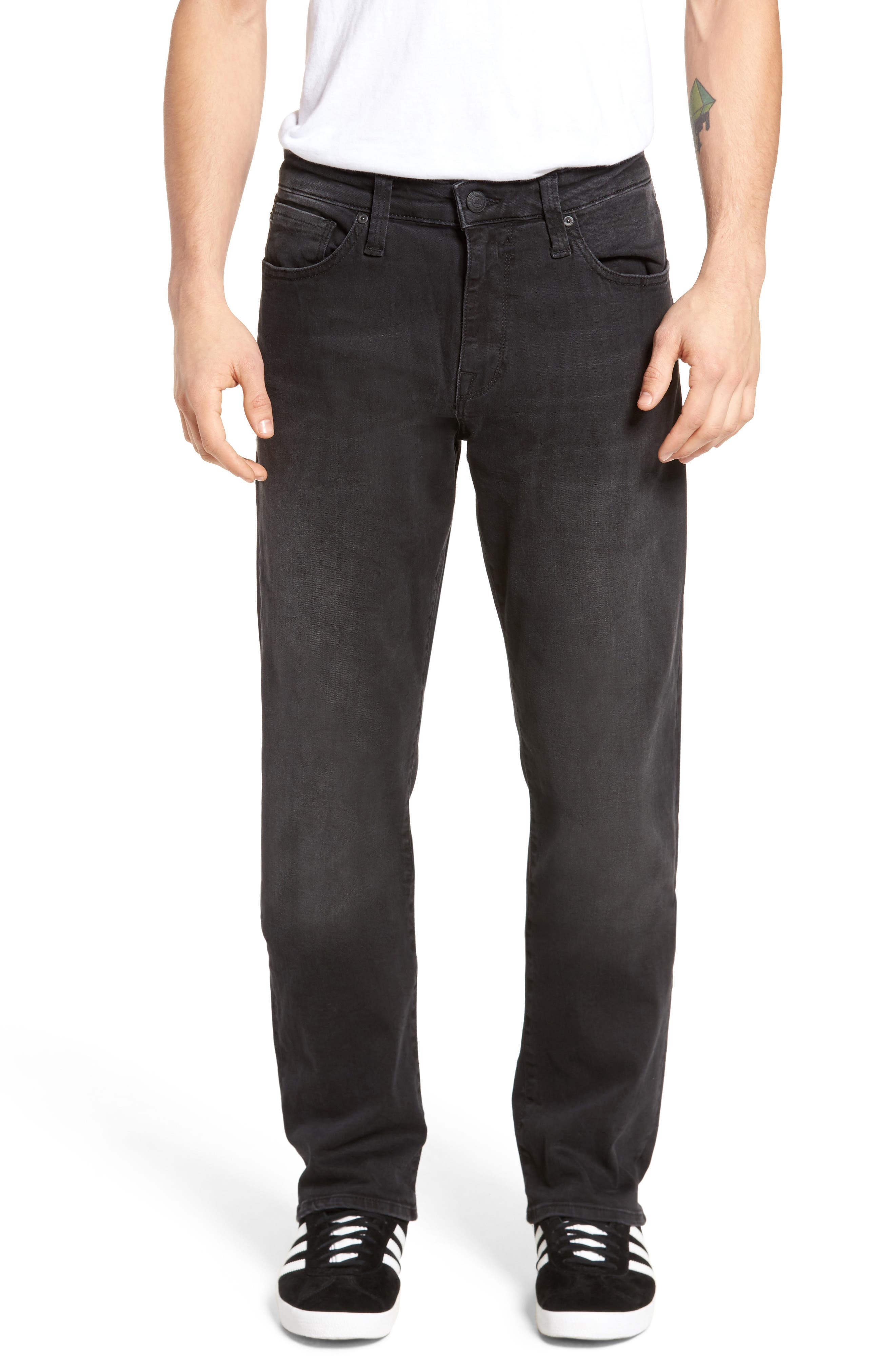Alternate Image 1 Selected - Mavi Jeans Myles Straight Fit Jeans (Smoke Chelsea)
