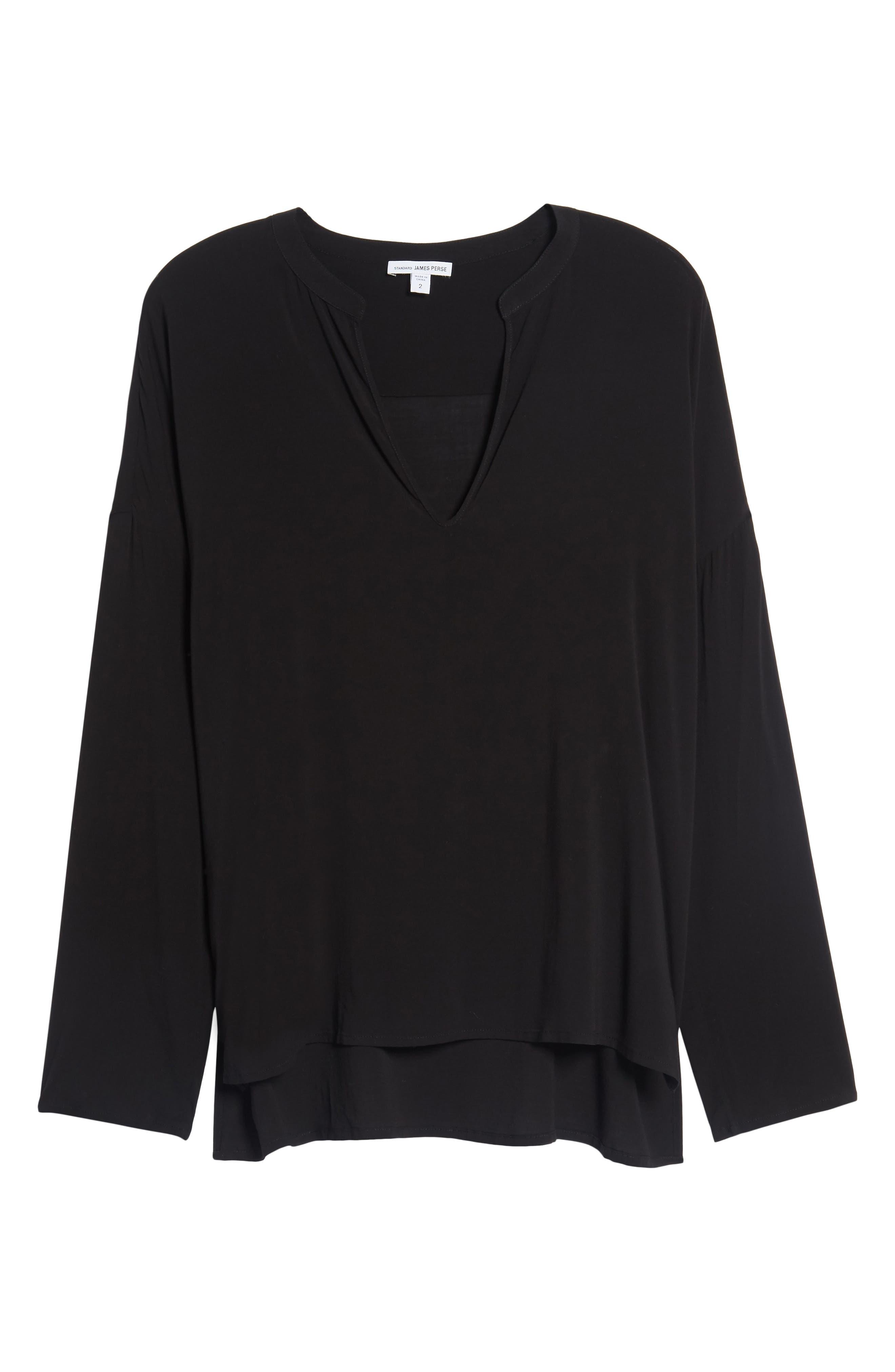 Relaxed Shirt,                             Alternate thumbnail 5, color,                             Black