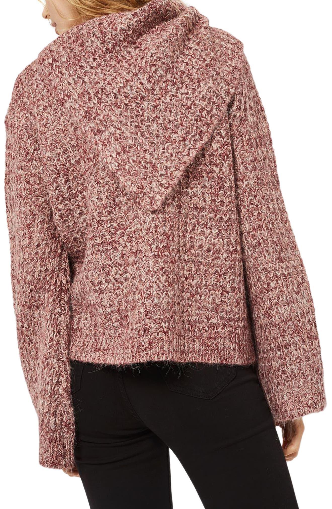Alternate Image 2  - Topshop Lofty Envelope Neck Sweater
