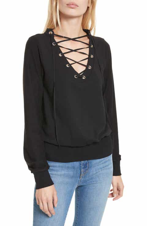 L'AGENCE Josilyn Lace-Up Sweatshirt