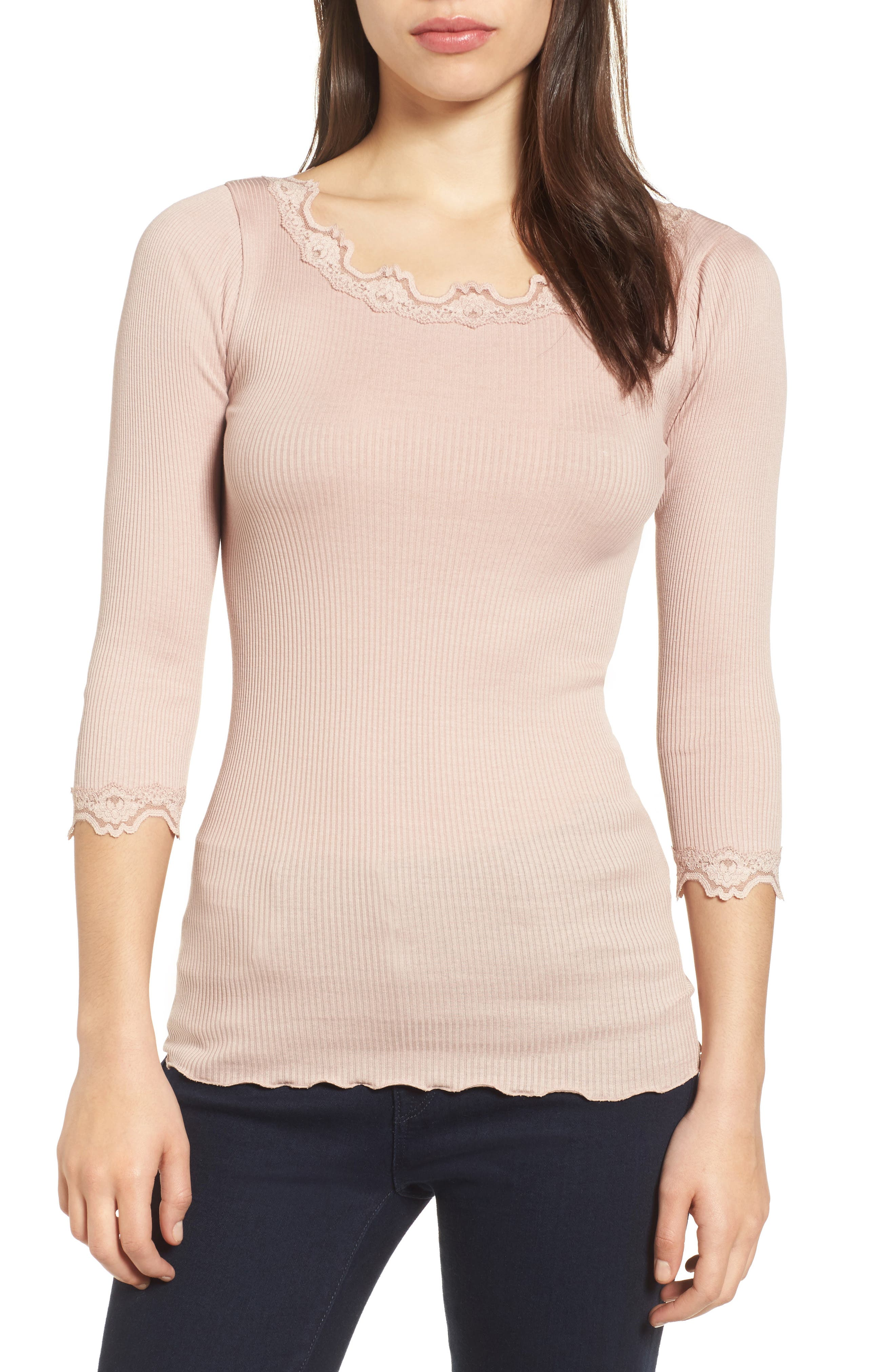 Alternate Image 1 Selected - Rosemunde Babette Lace Trim Top