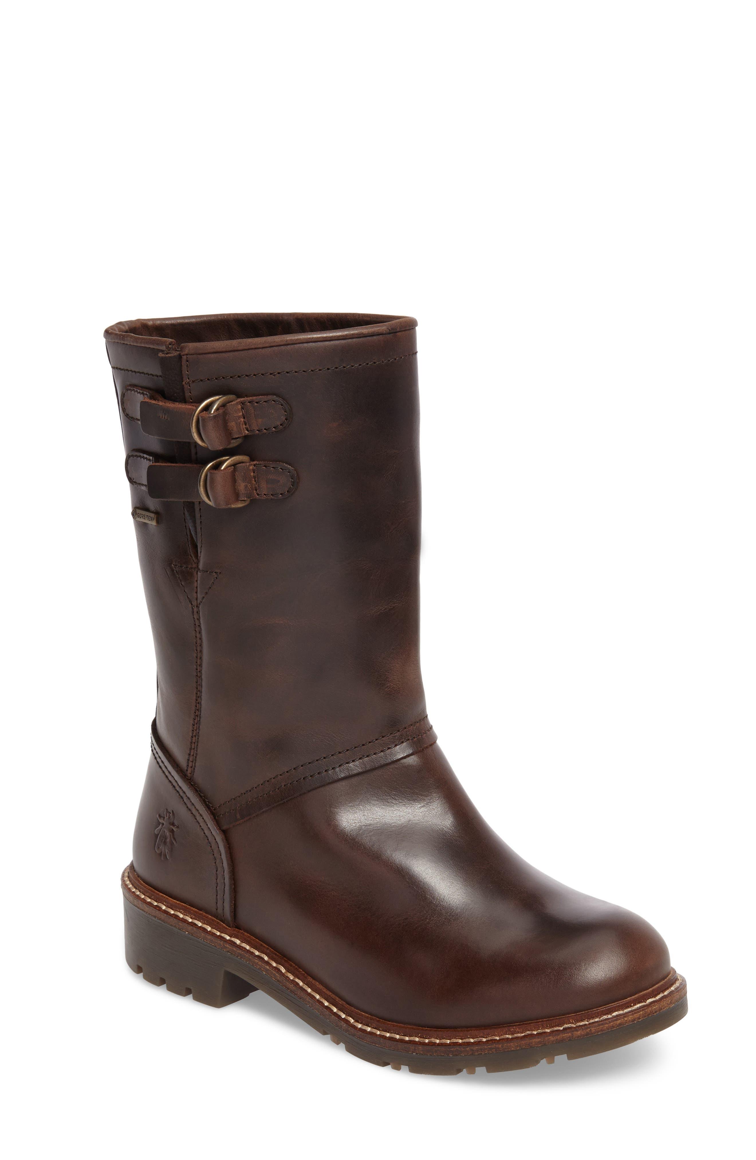 Sasi Waterproof Gore-Tex<sup>®</sup> Boot,                             Main thumbnail 1, color,                             Dark Brown Rug Leather