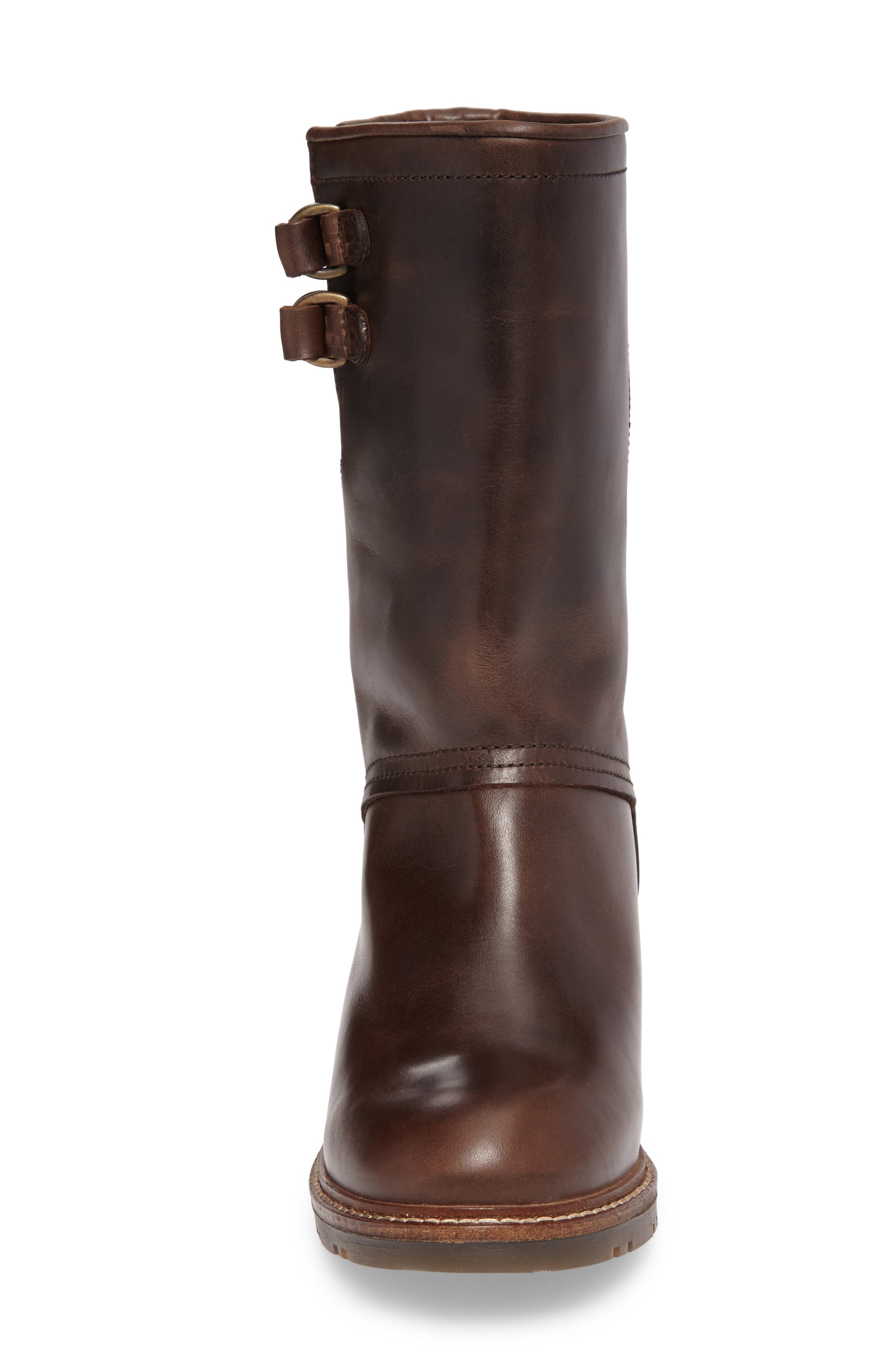 Sasi Waterproof Gore-Tex<sup>®</sup> Boot,                             Alternate thumbnail 4, color,                             Dark Brown Rug Leather