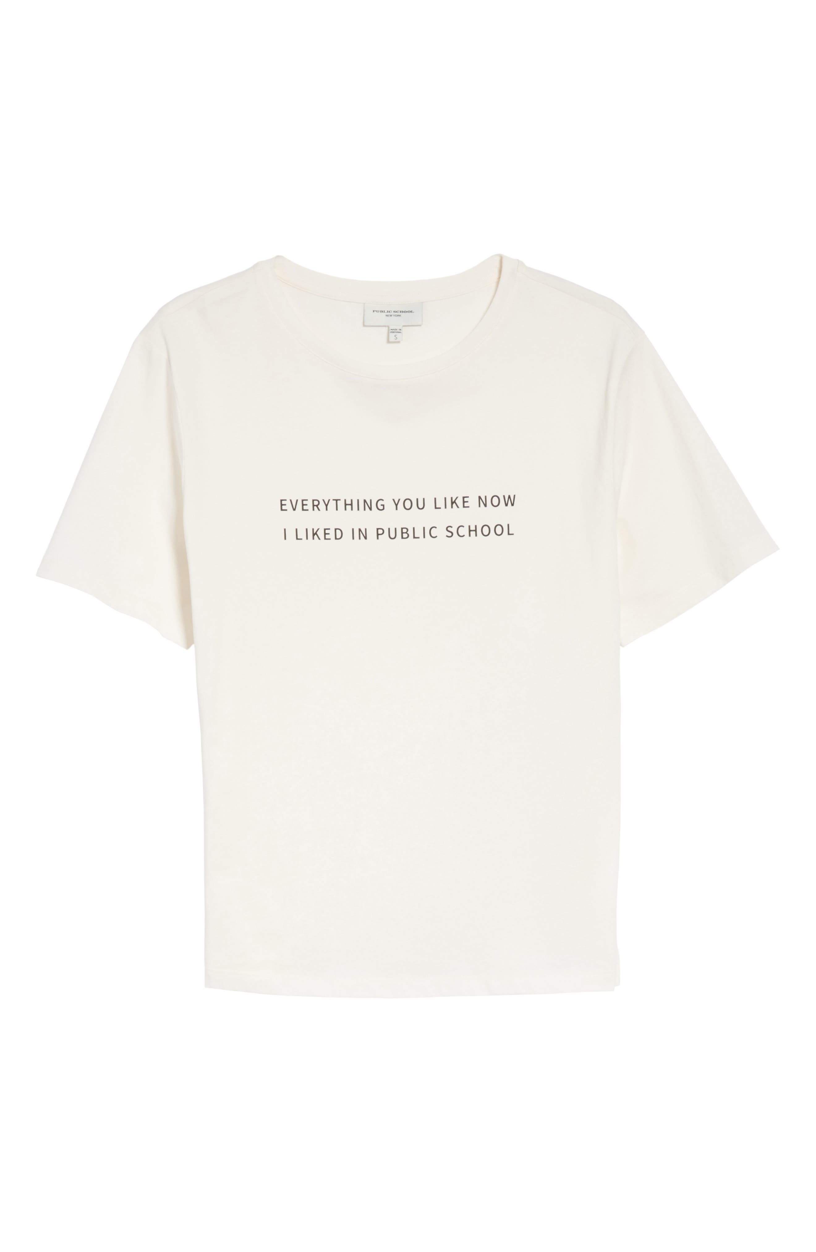 Everything I Like Graphic Tee,                             Alternate thumbnail 6, color,                             Off White