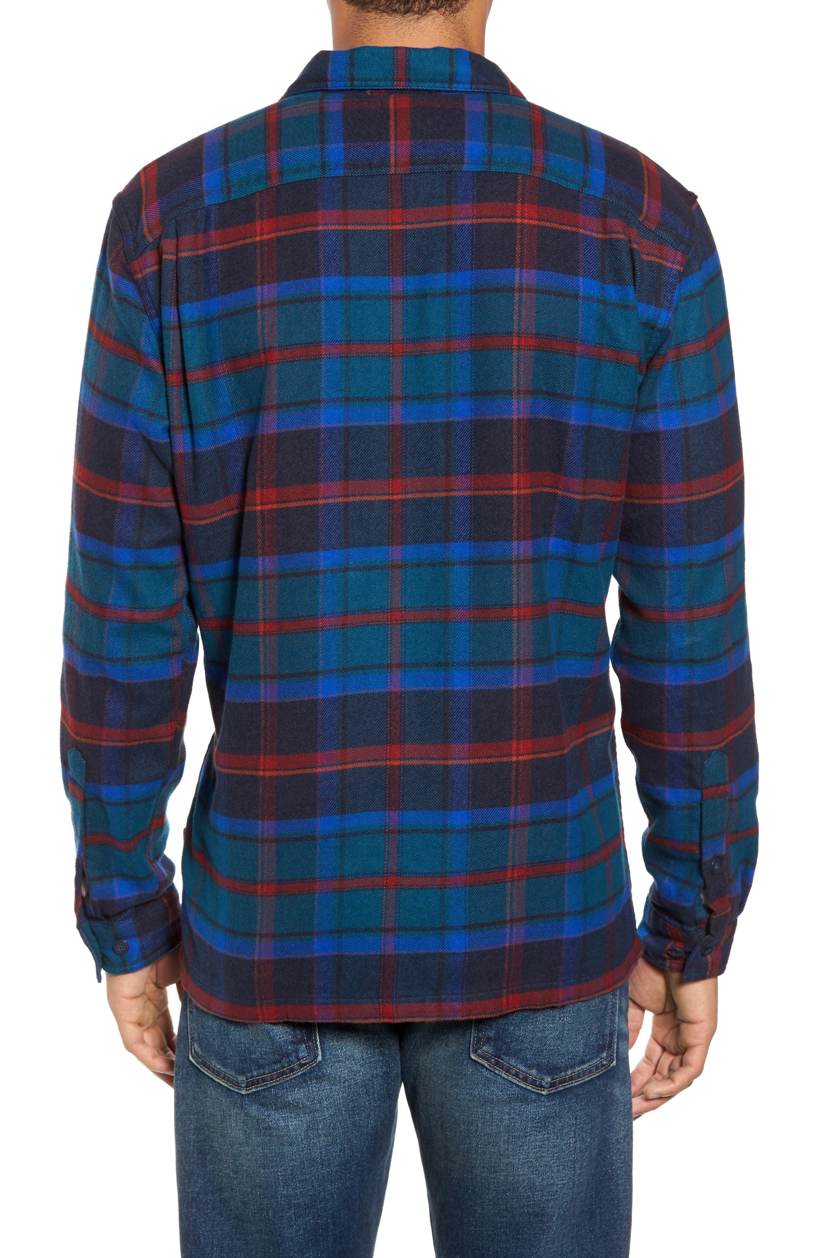 'Fjord' Regular Fit Organic Cotton Flannel Shirt,                             Alternate thumbnail 2, color,                             Buckstop Plaid Big Sur Blue