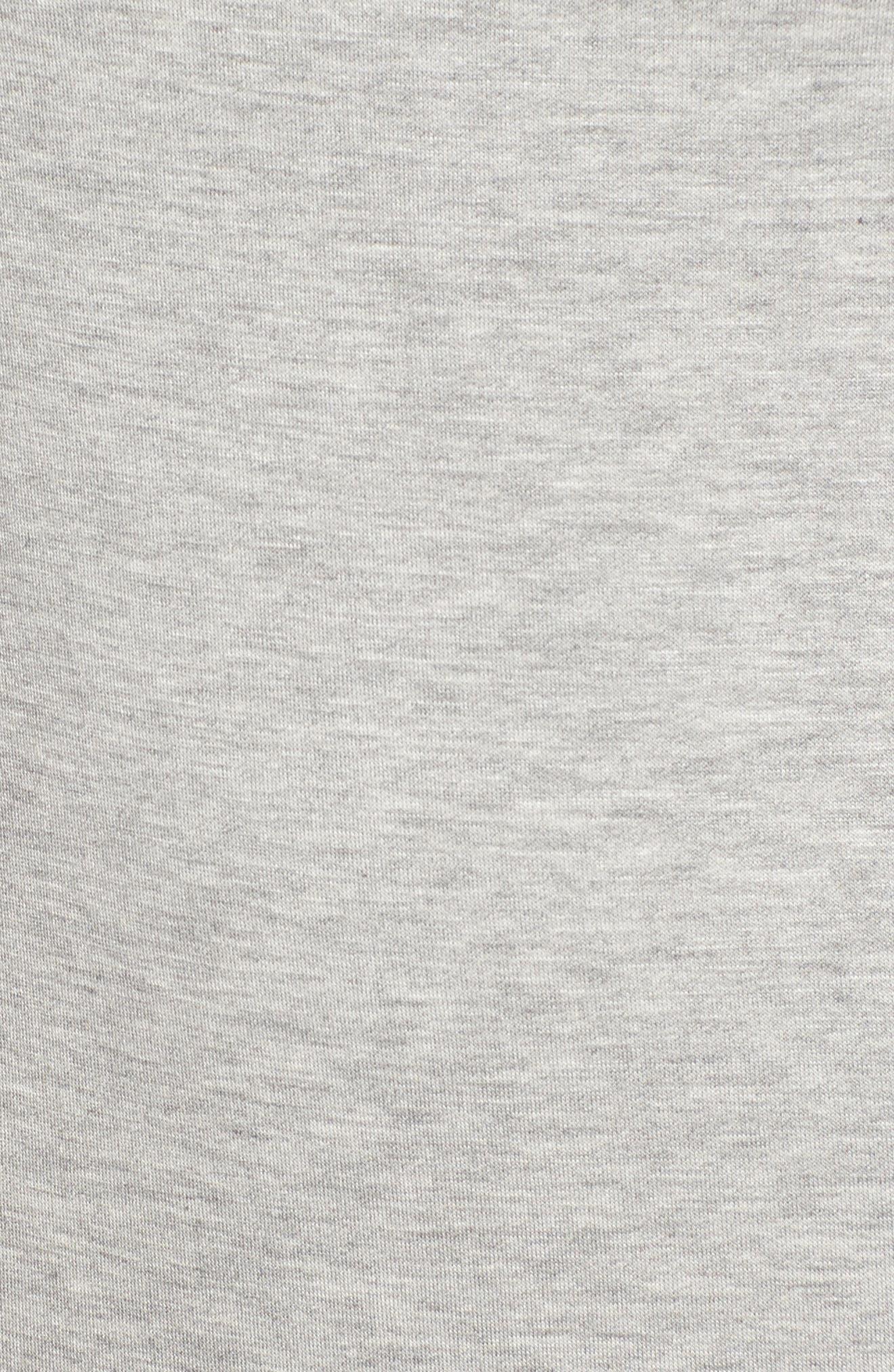 Drop Waist Sweatshirt Dress,                             Alternate thumbnail 5, color,                             Heather Grey