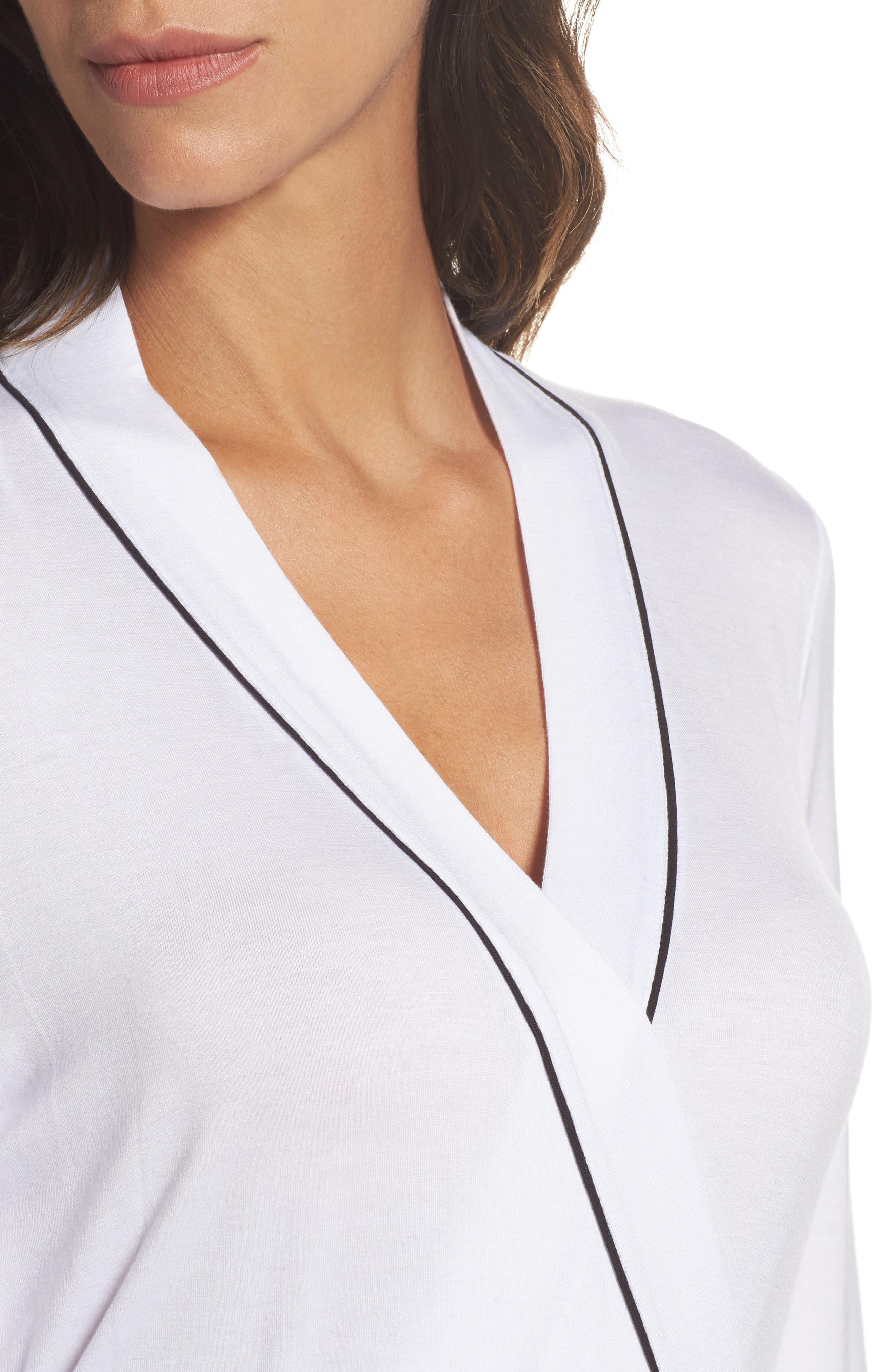 Aldridge Short Robe,                             Alternate thumbnail 5, color,                             Cream