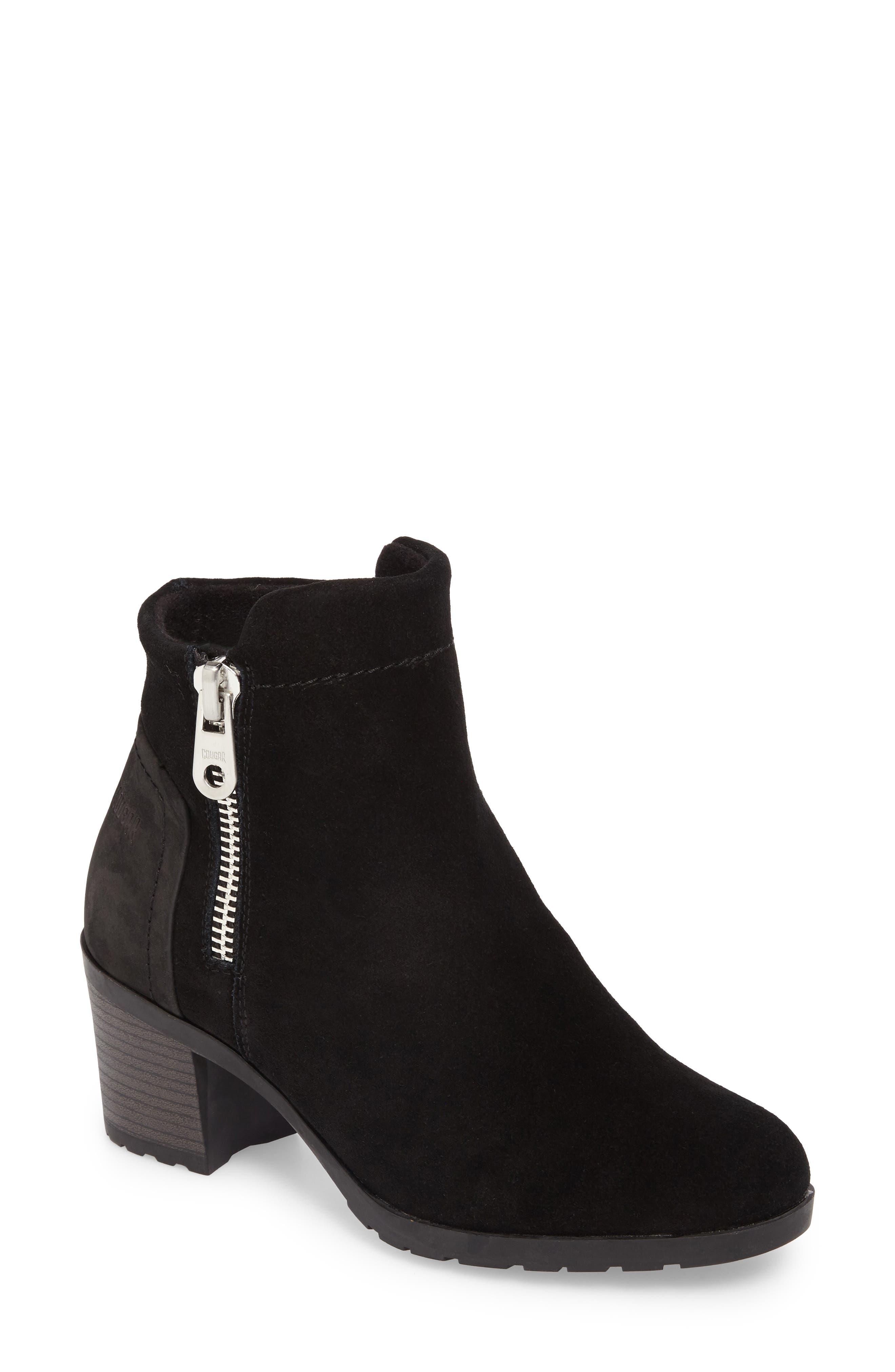 Anton Waterproof Boot,                         Main,                         color, Black Suede