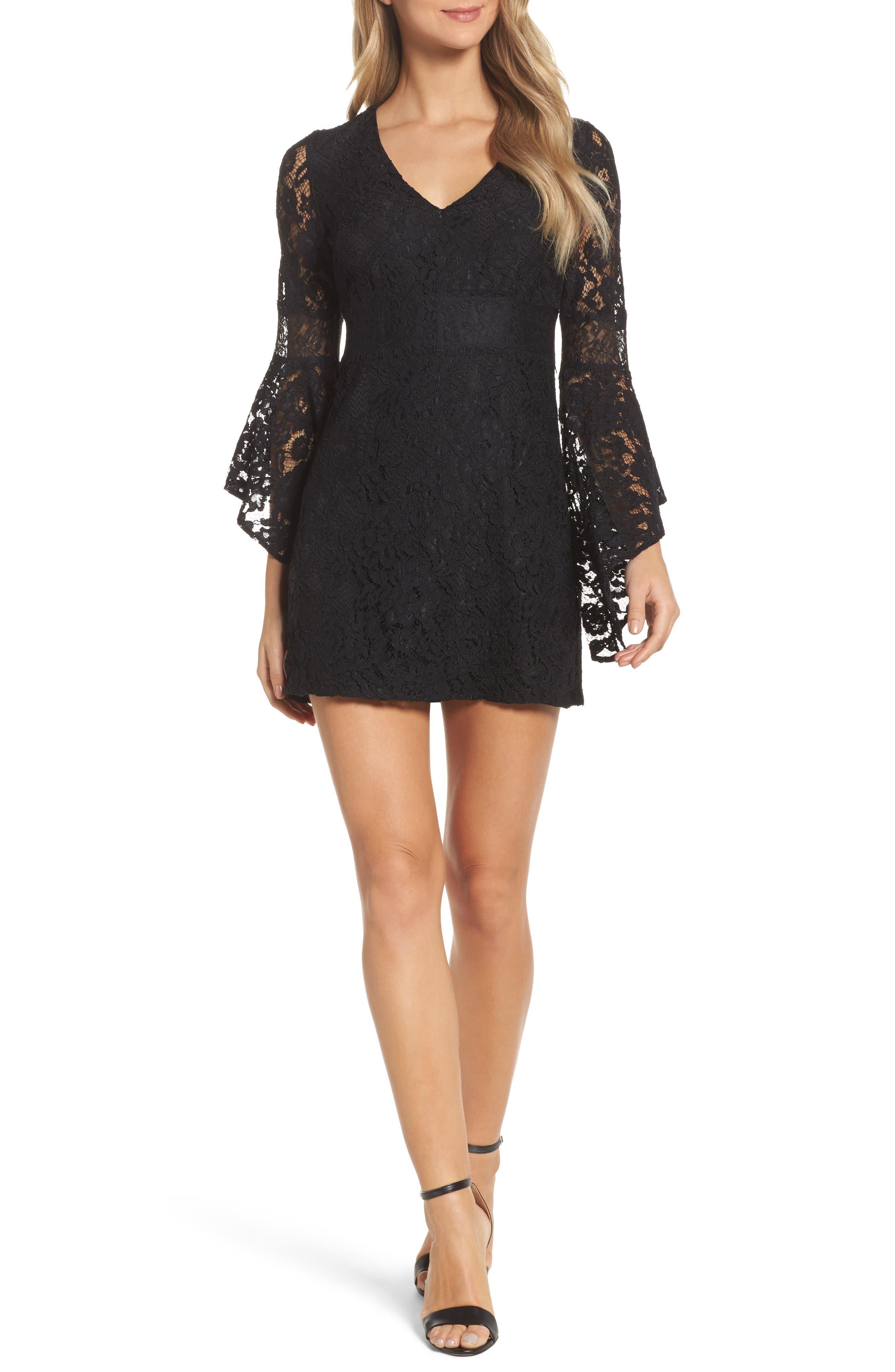 Ali & Jay Le Fete Lace Bell Sleeve Dress