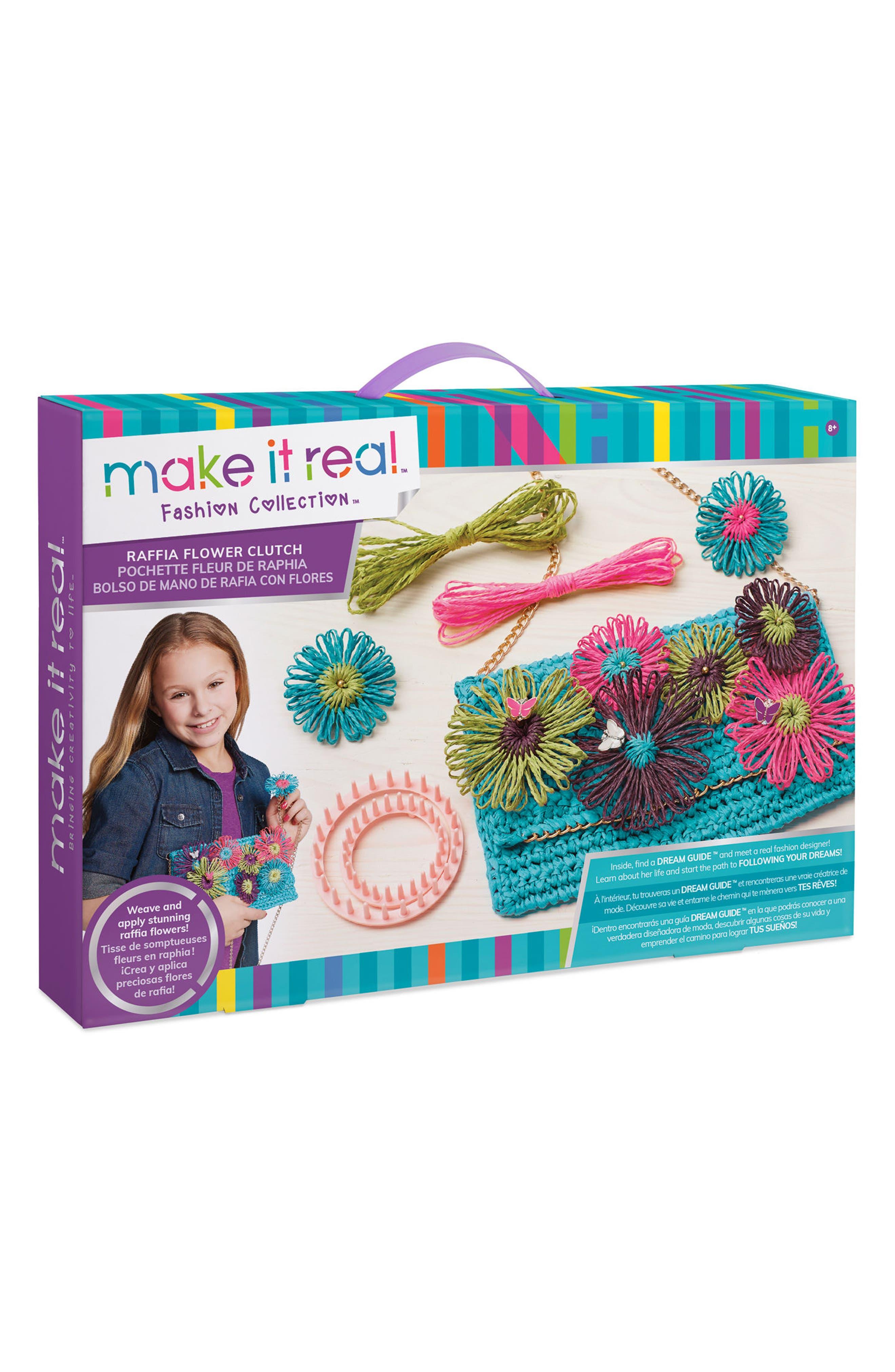 Make It Real Raffia Flower Clutch Kit
