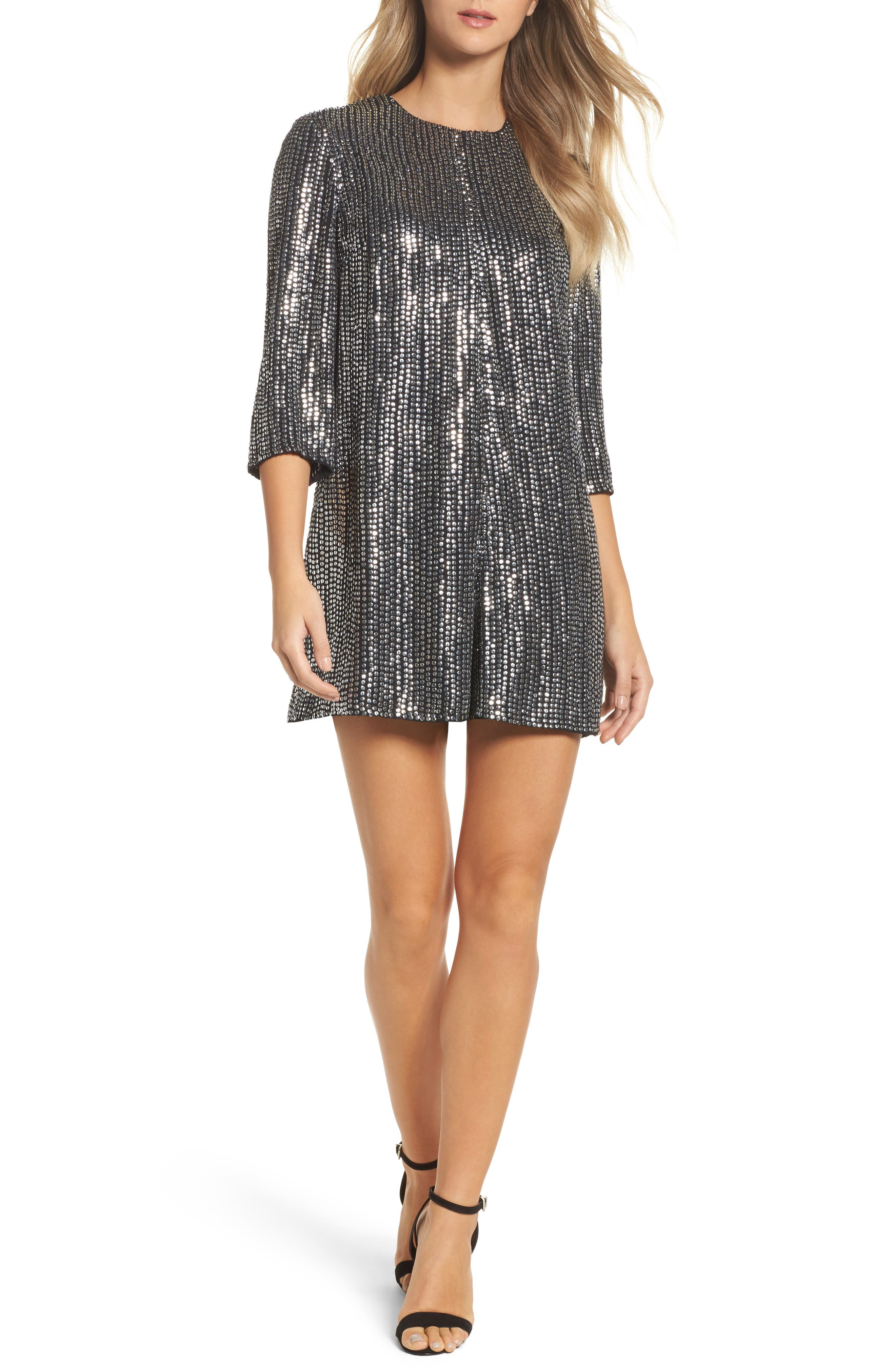 Alternate Image 1 Selected - French Connection Desiree Disco Romper