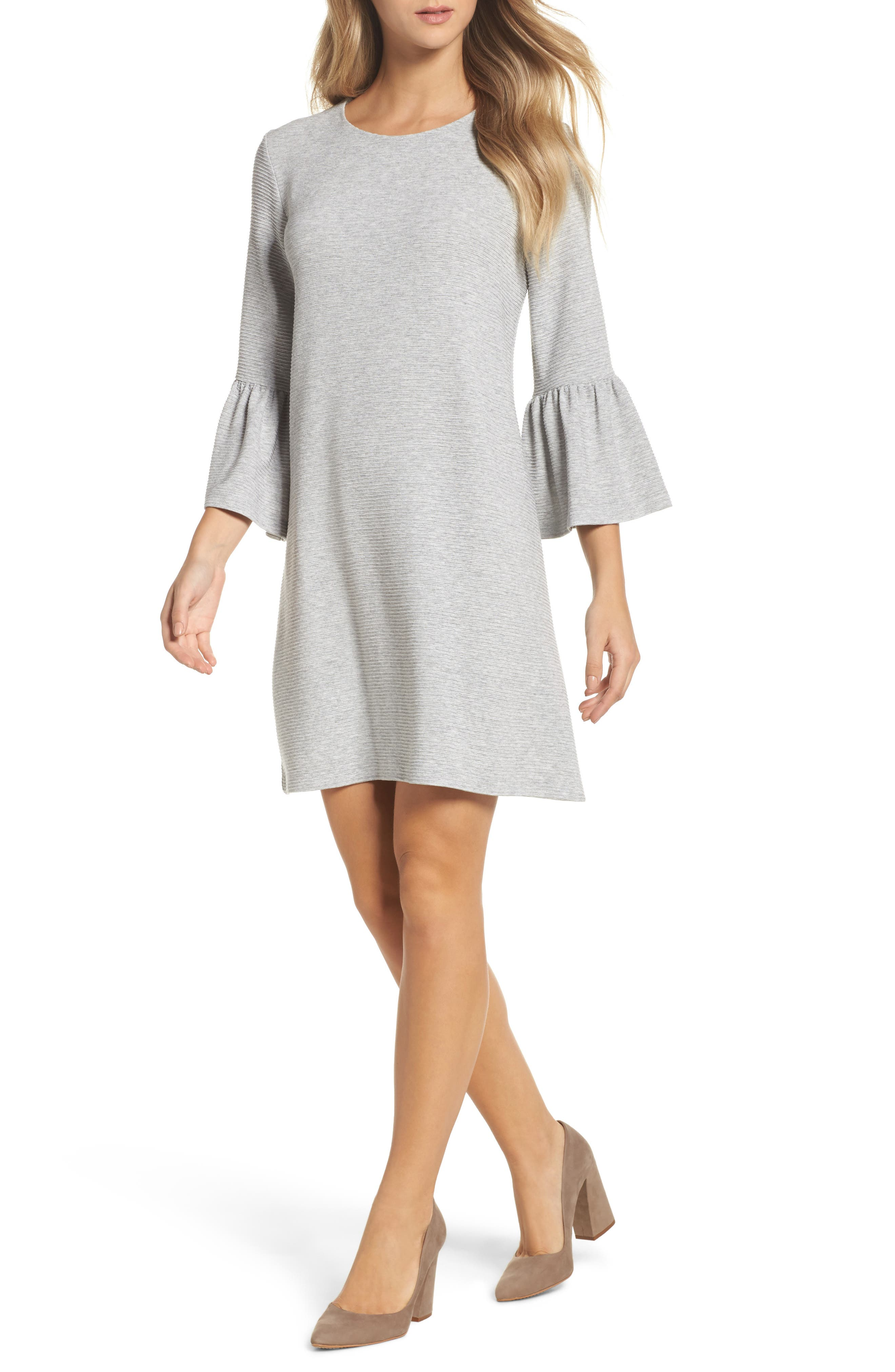 French Connection Paros Sudan Bell Sleeve Shift Dress