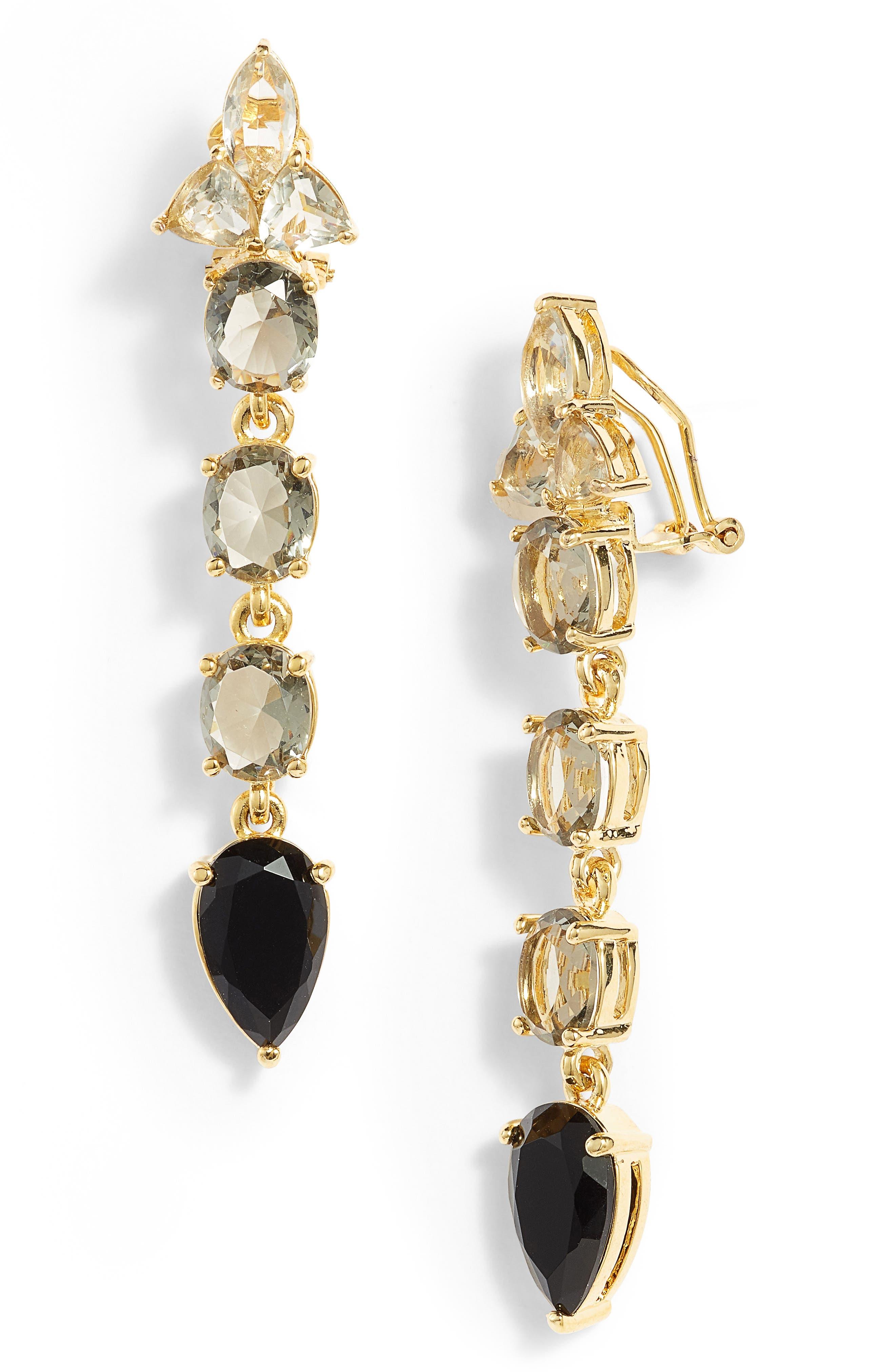 Vince Camuto Linear Stone Drop Earrings