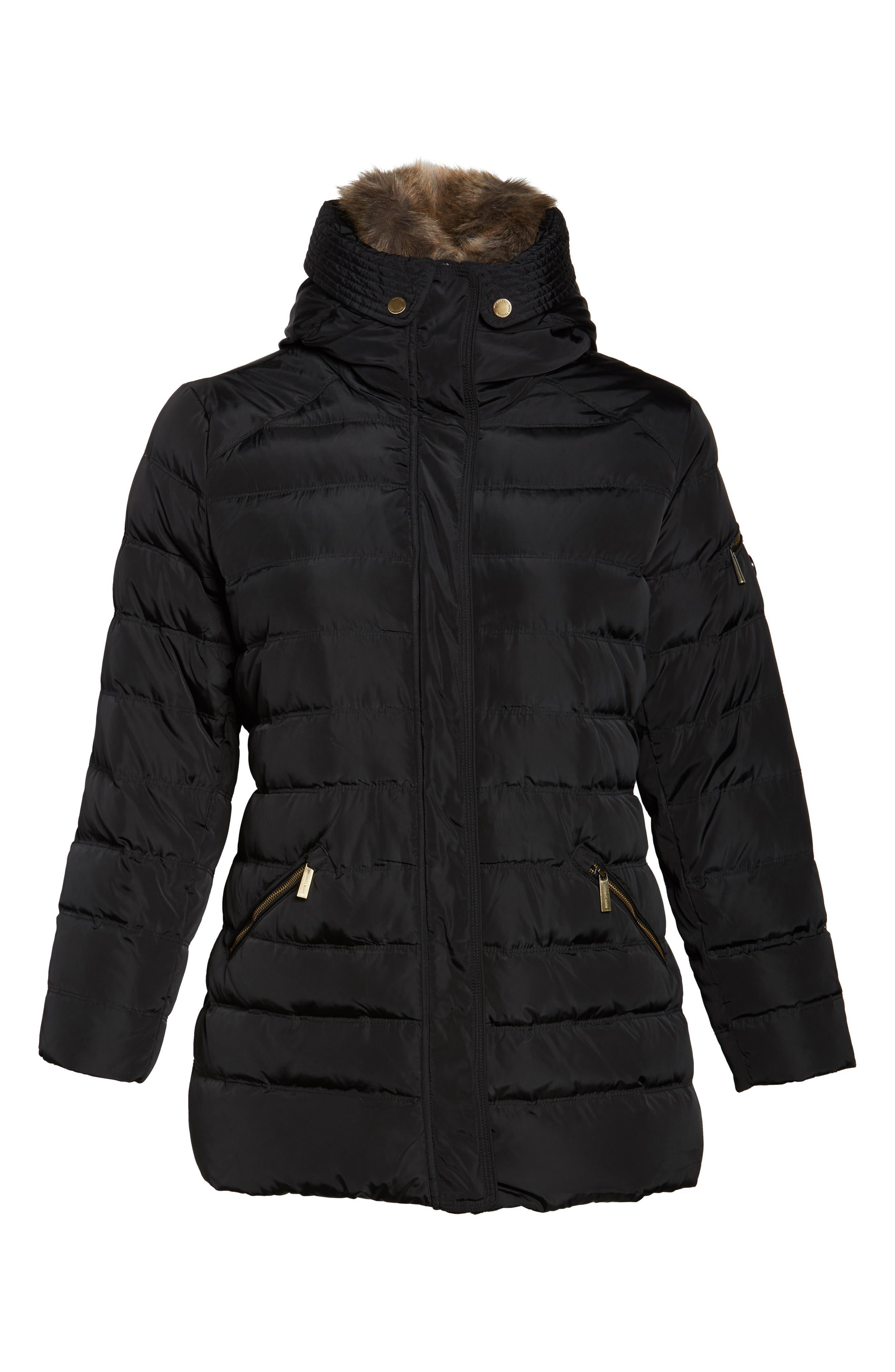 Alternate Image 6  - MICHAEL Michael Kors Down & Feather Hooded Coat with Faux Fur Trim (Plus Size)