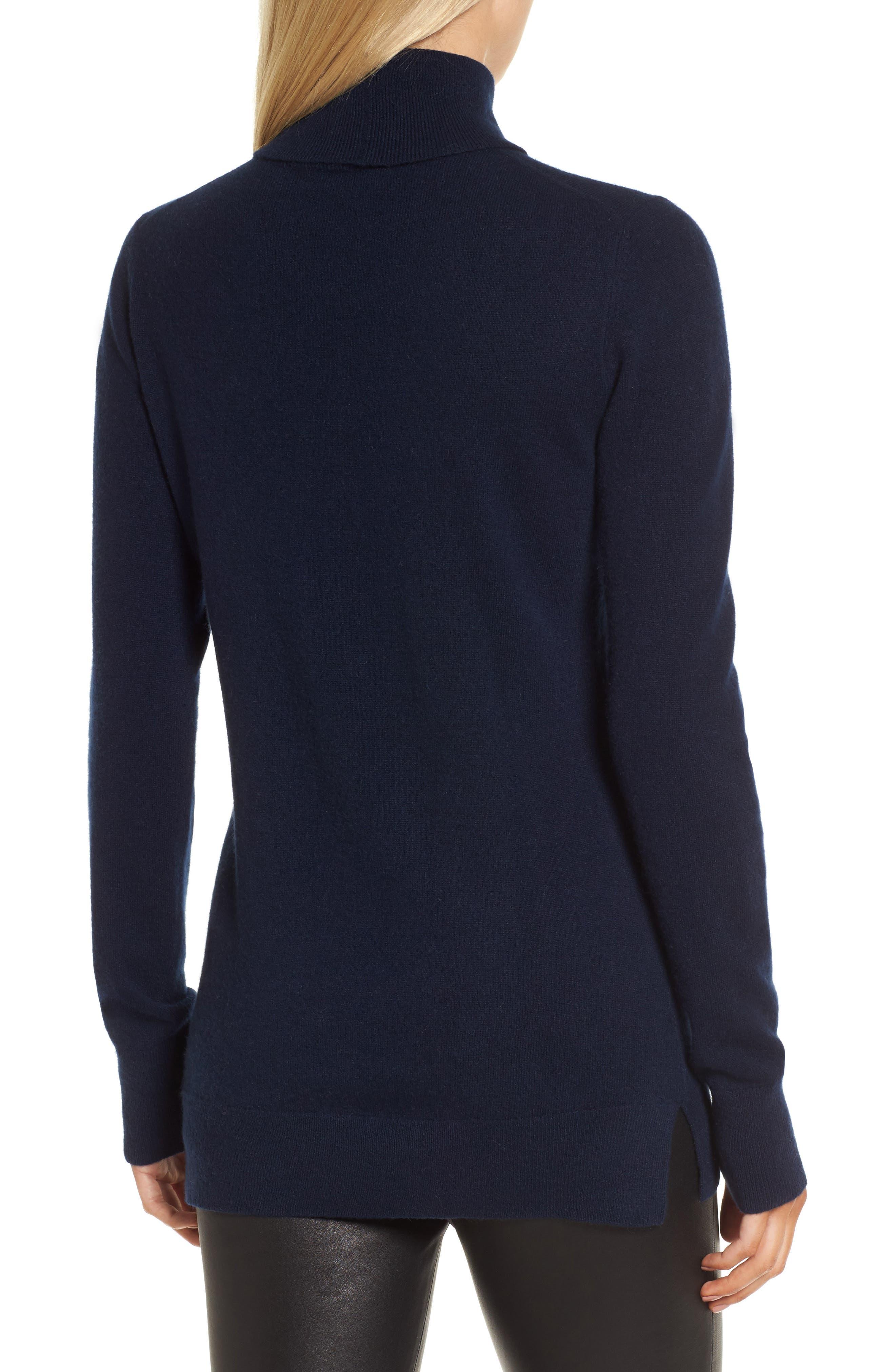 Alternate Image 2  - Nordstrom Signature Turtleneck Cashmere Sweater