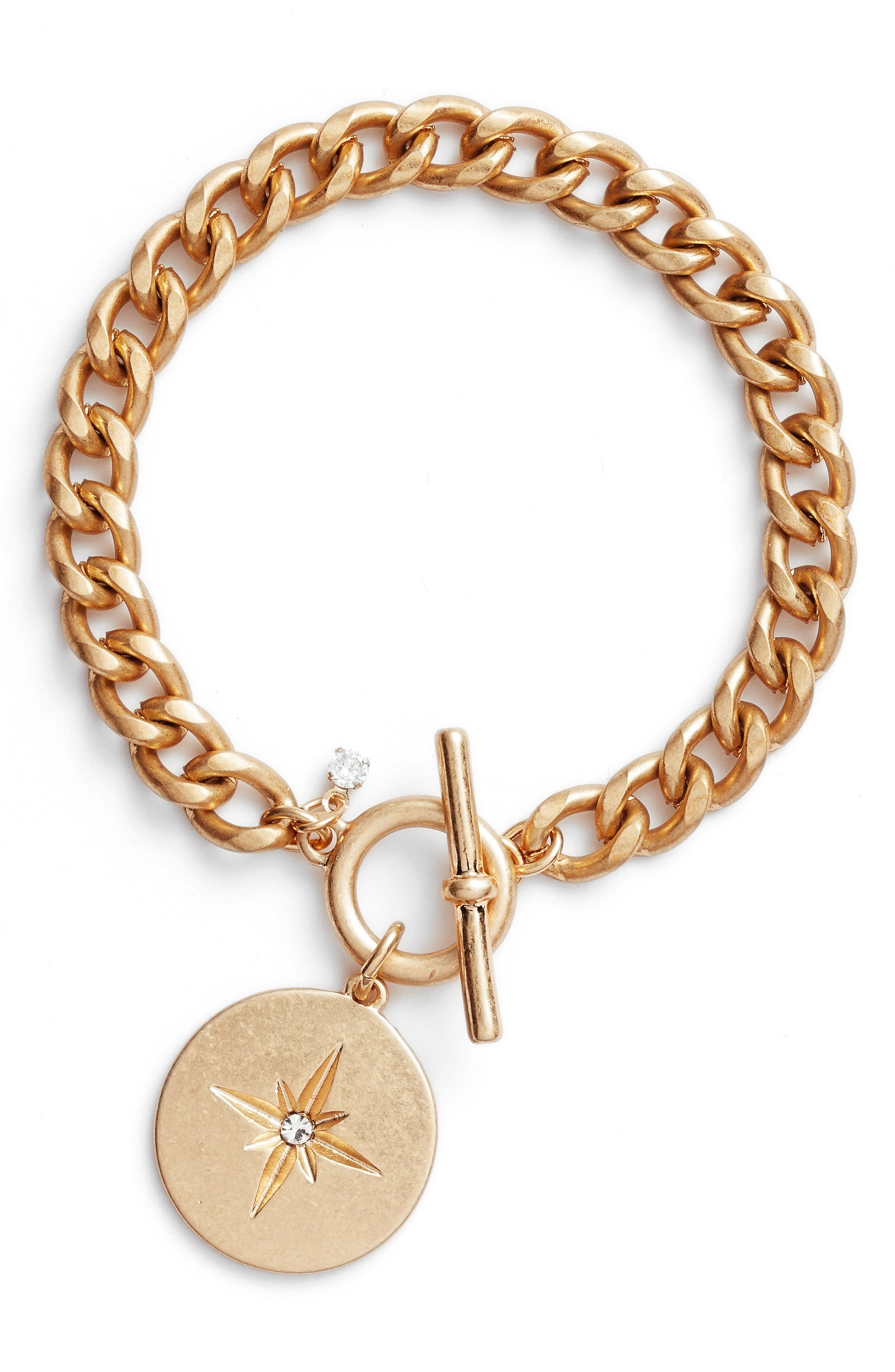 Treasure & Bond Star Disc Toggle Bracelet