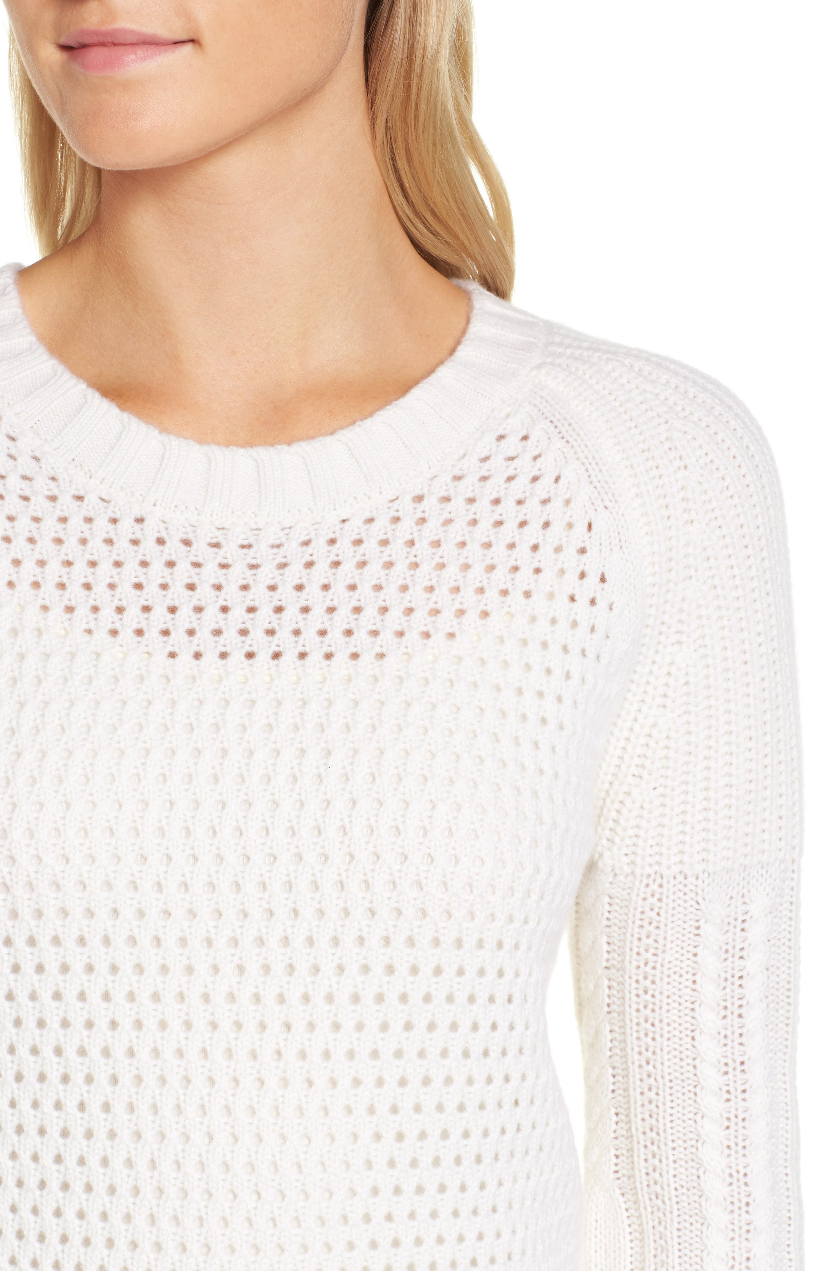 Alternate Image 4  - Nordstrom Signature Mixed Stitch Cashmere Sweater