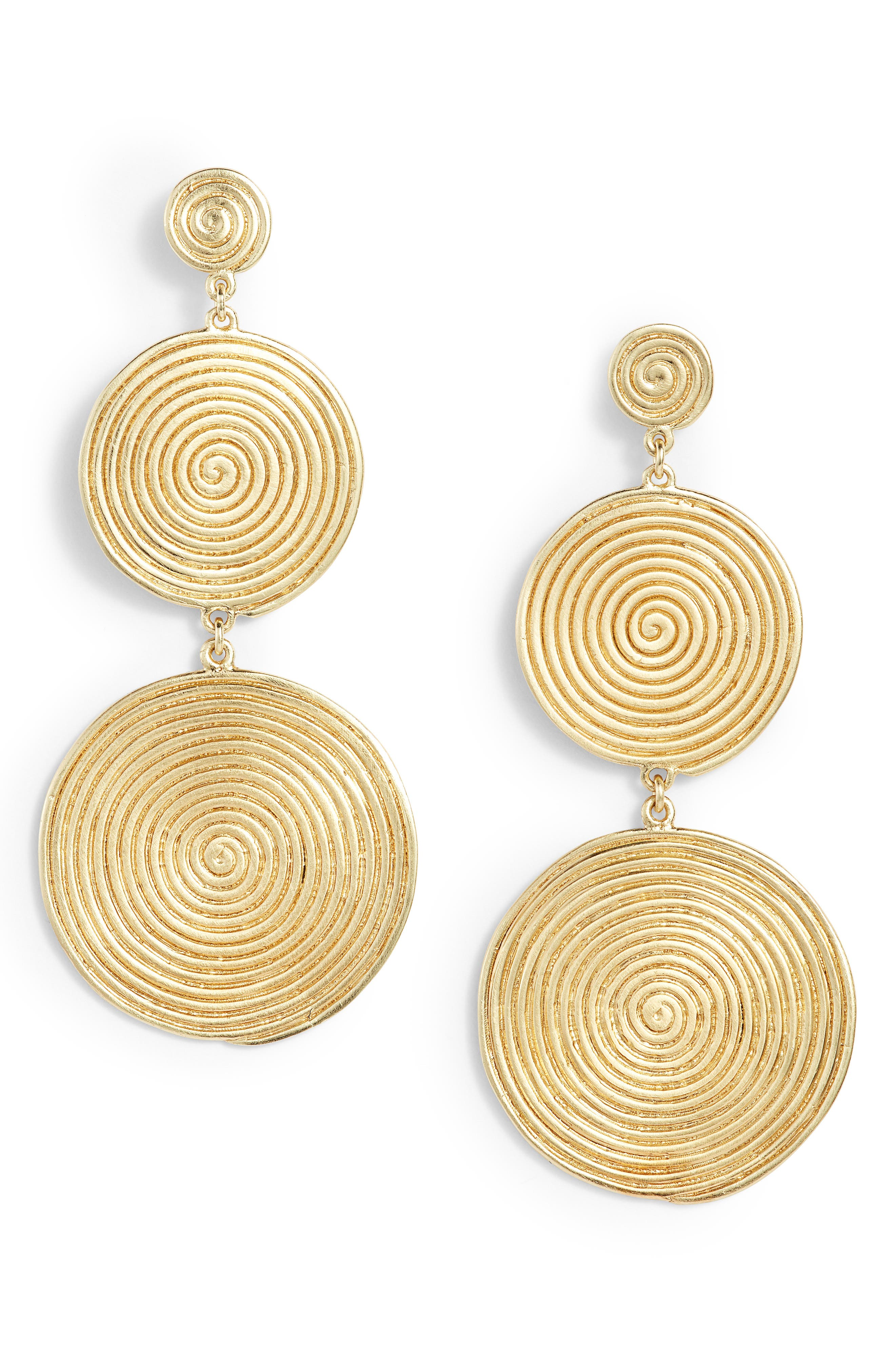 Sullivan - Lorelai Drop Earrings,                             Main thumbnail 1, color,                             Yellow Gold
