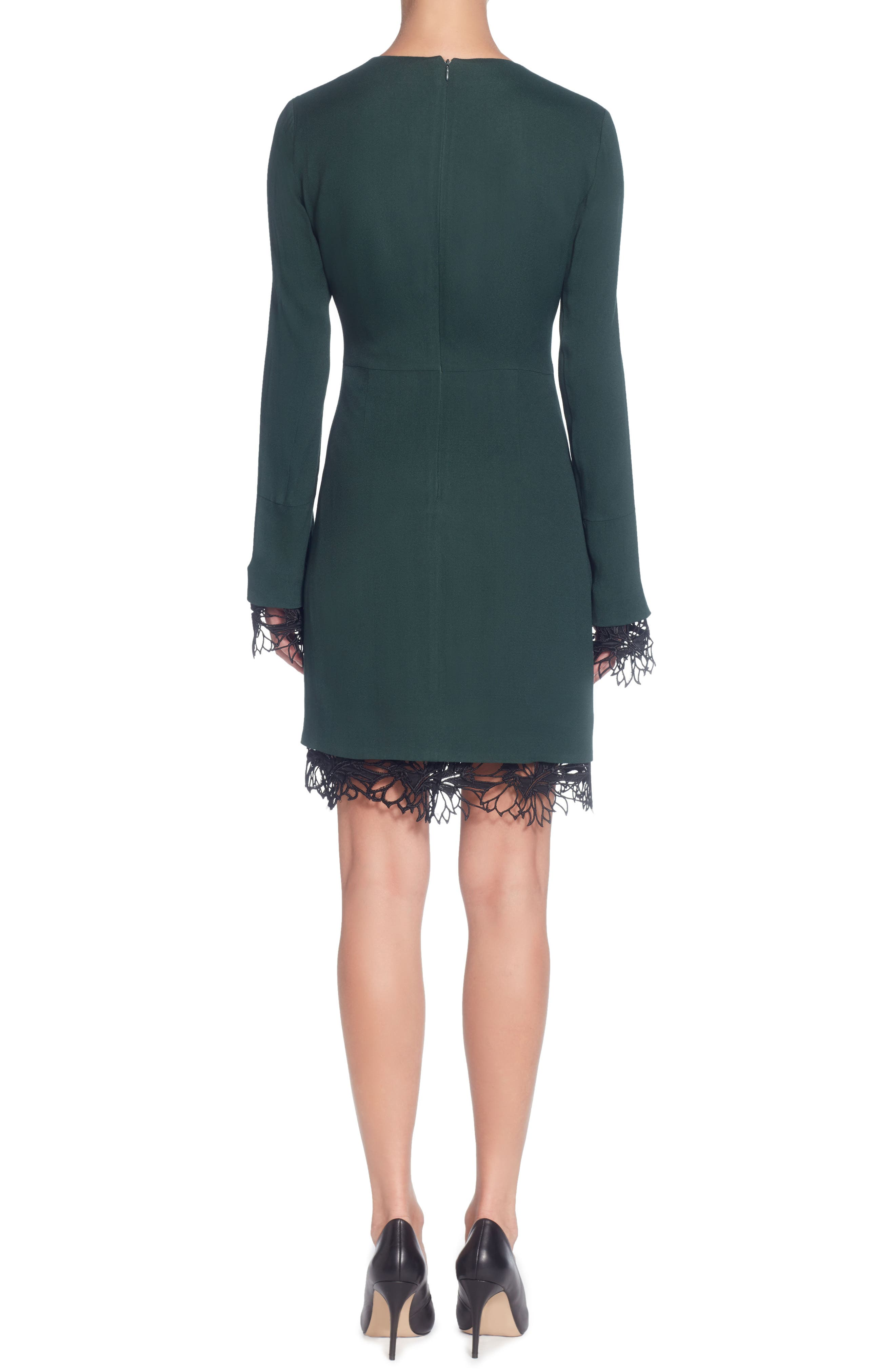 Alternate Image 2  - Catherine Catherine Malandrino Pernilla V-Neck Sheath Dress