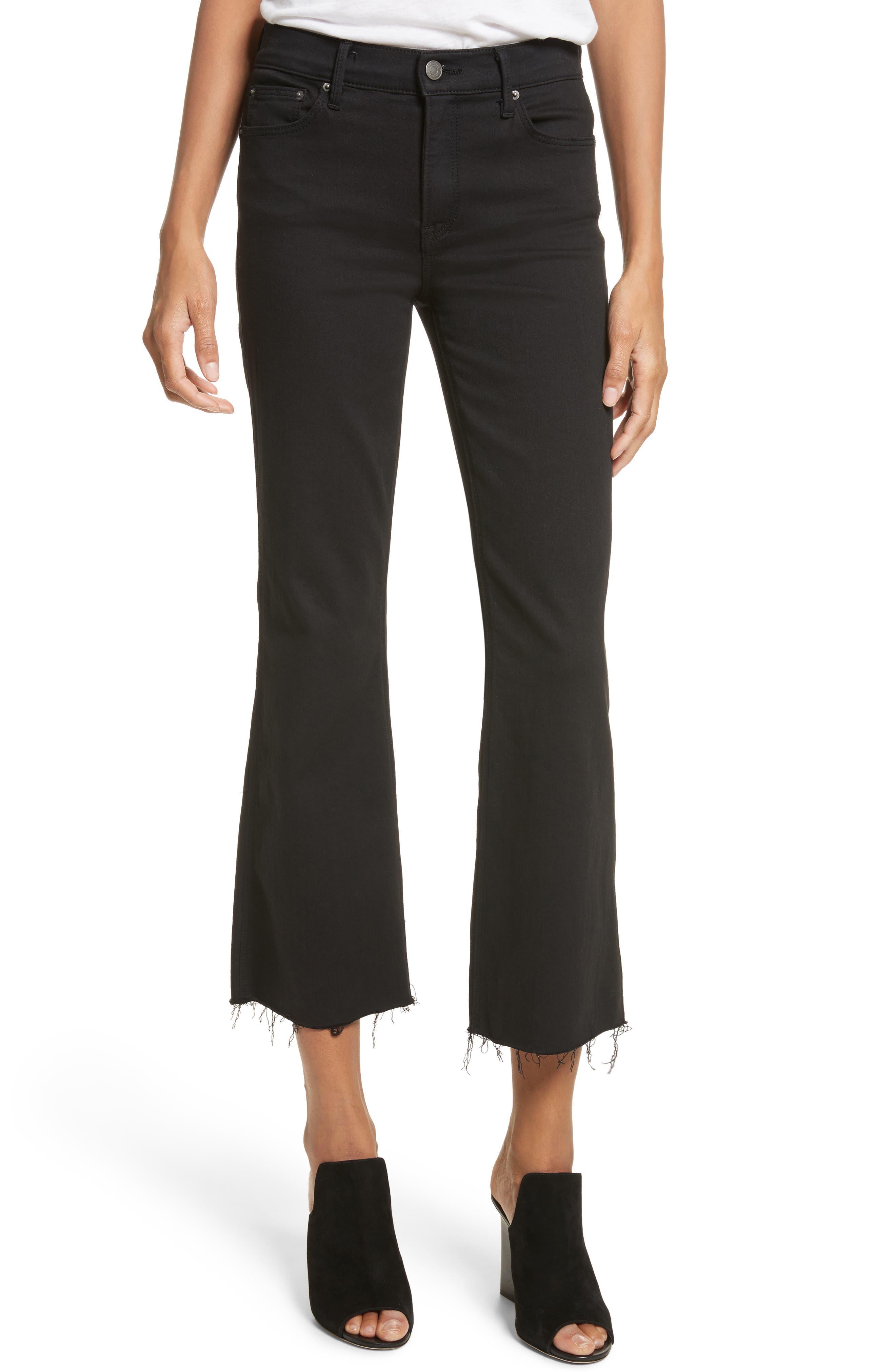GRLFRND Joan Crop Flare Jeans (Black Magic)